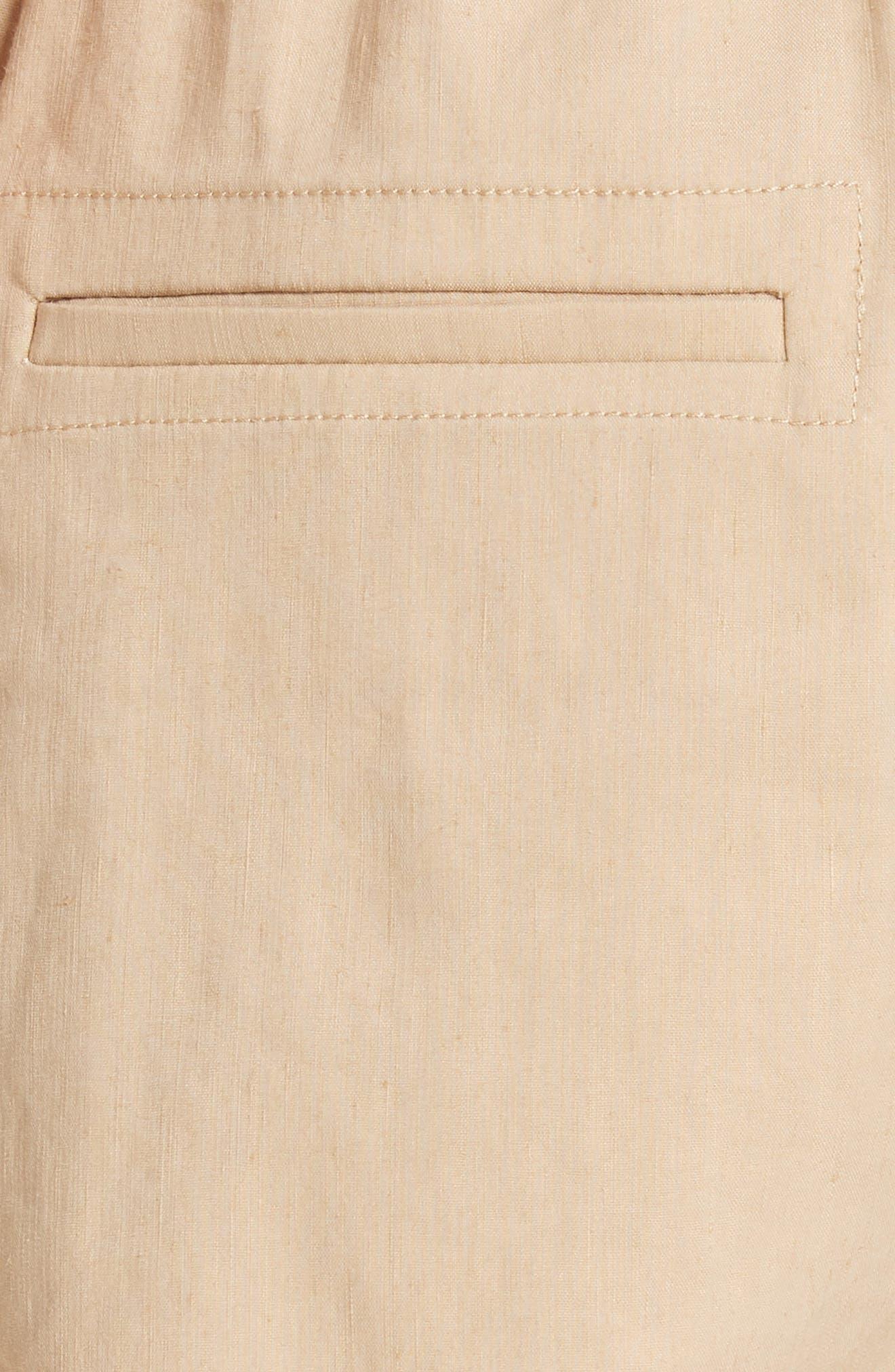 Rope Tie Linen Blend Shorts,                             Alternate thumbnail 14, color,