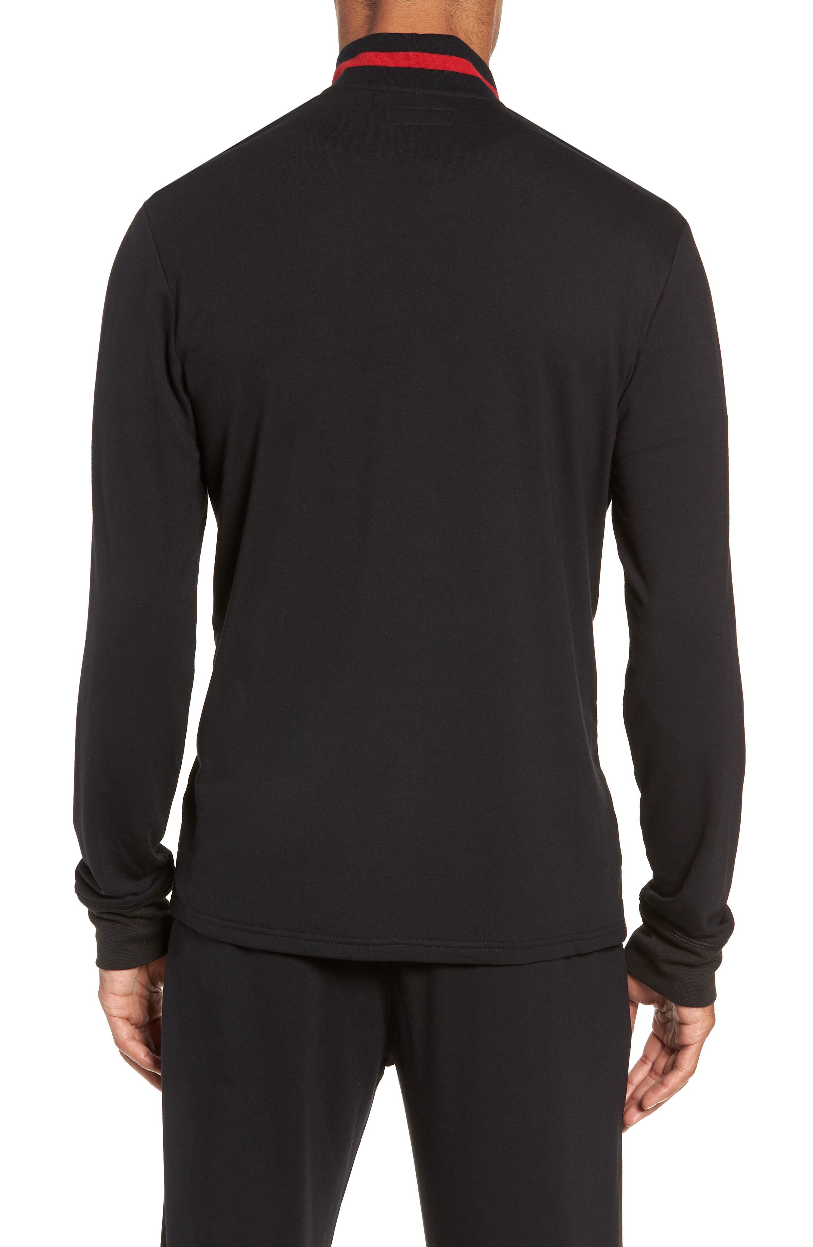 Half-Zip Pullover,                             Alternate thumbnail 2, color,                             POLO BLACK