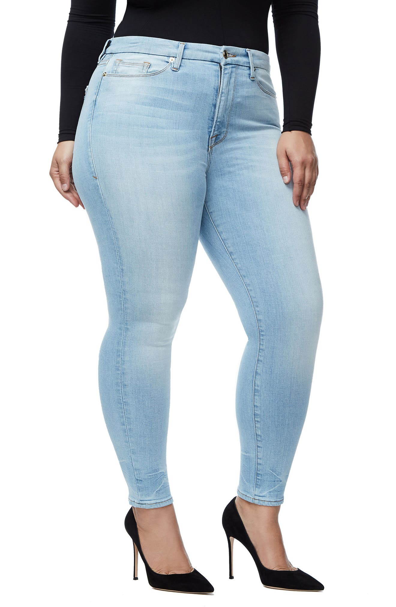 Good Legs High Waist Crop Skinny Jeans,                             Alternate thumbnail 10, color,                             401