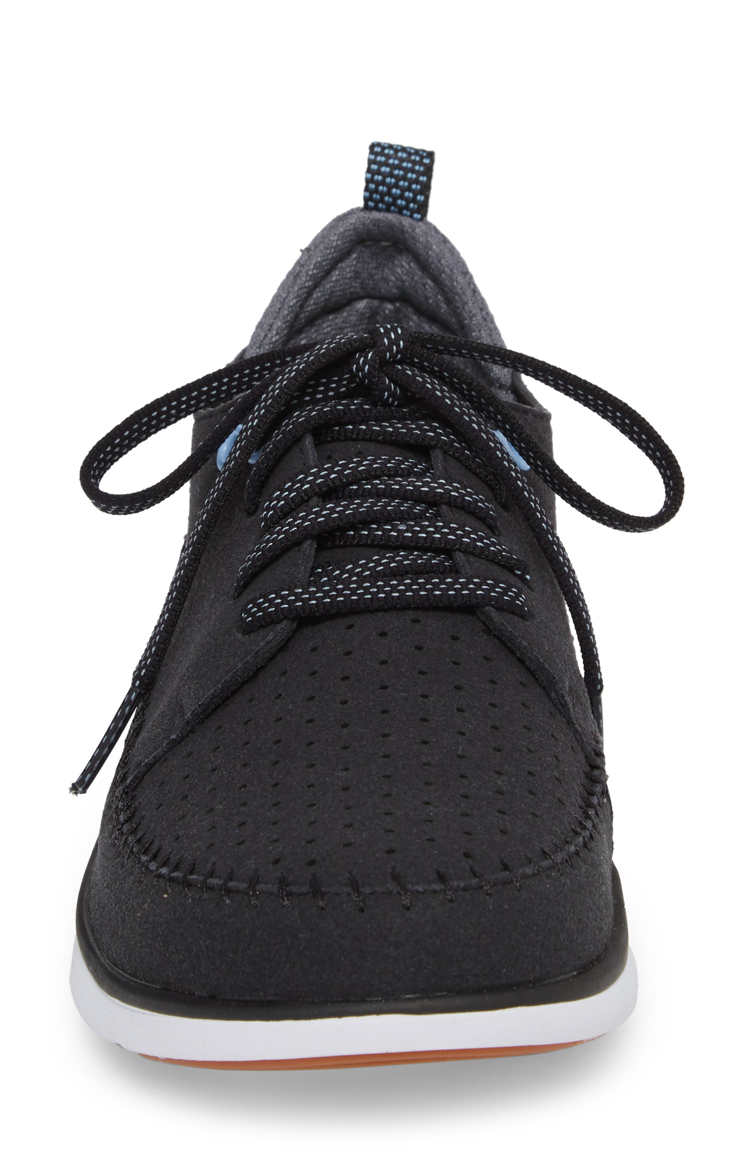 Addy Sneaker,                             Alternate thumbnail 4, color,                             BLACK FABRIC