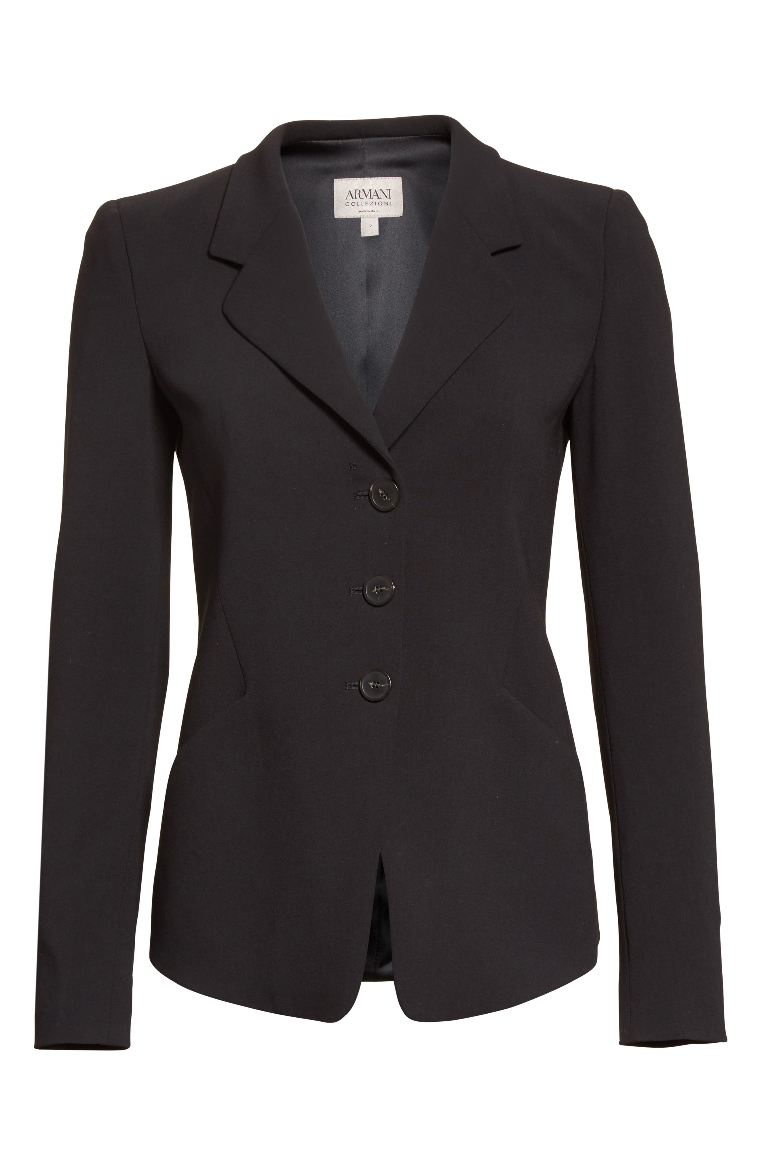 Stretch Wool Jacket,                             Alternate thumbnail 5, color,                             004