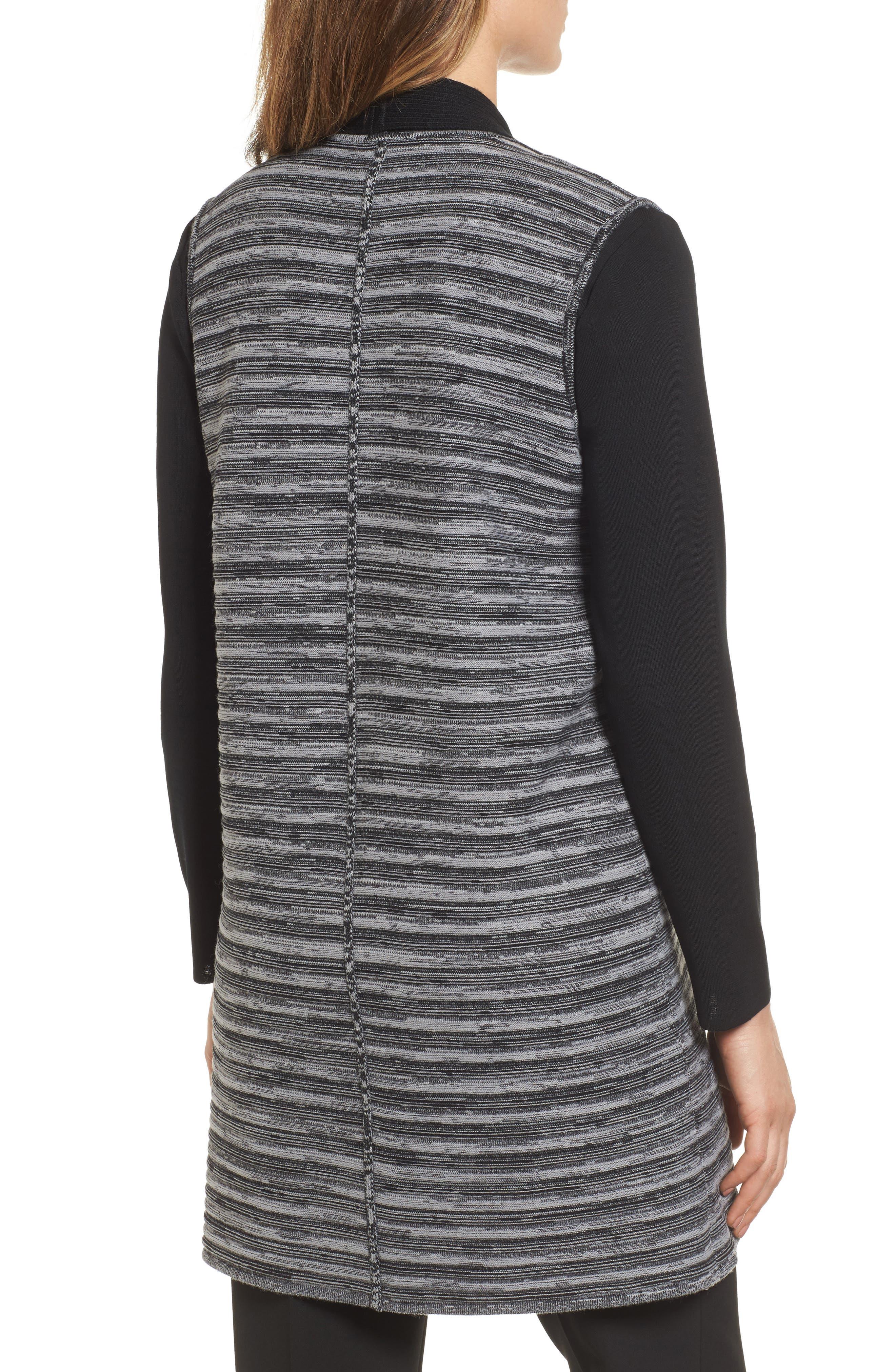 Ribbed Tweed Vest,                             Alternate thumbnail 2, color,