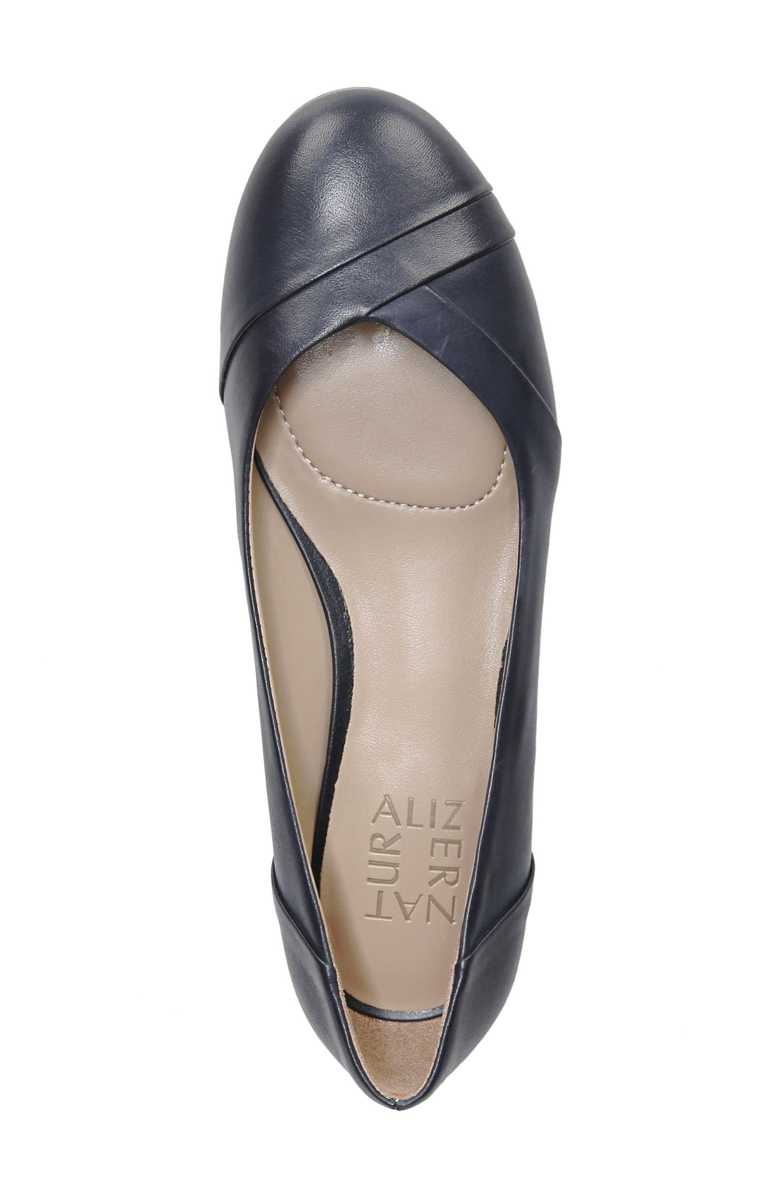 Gilly Flat,                             Alternate thumbnail 5, color,                             NAVY LEATHER