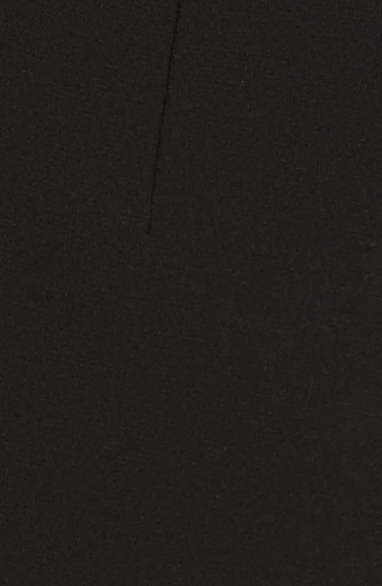 Manhattan Finesse Crepe Crop Flare Pants,                             Alternate thumbnail 6, color,                             BLACK