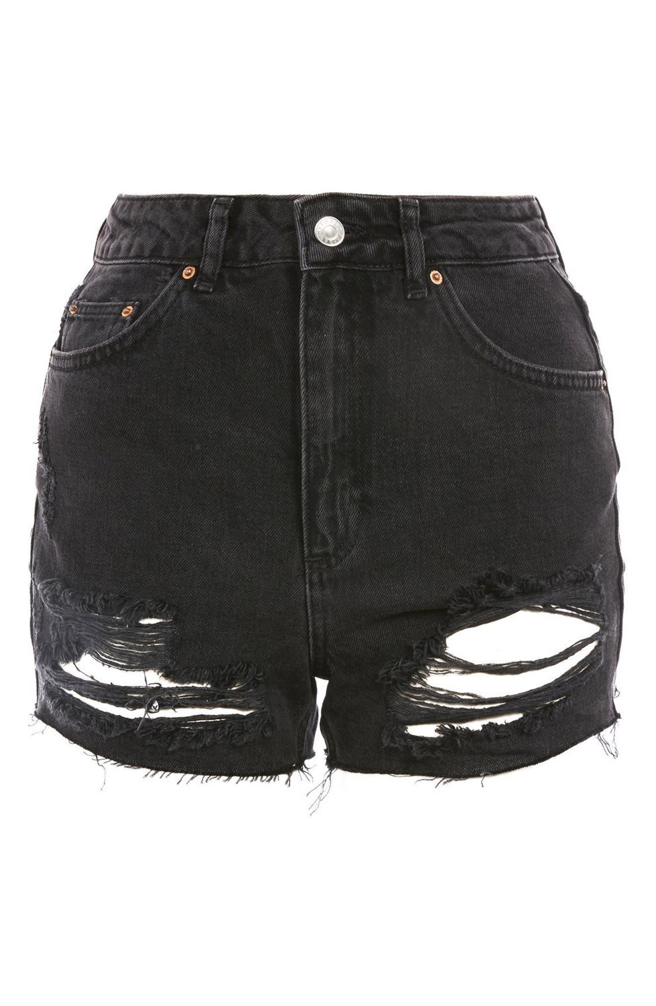 Ripped Mom Shorts,                             Alternate thumbnail 3, color,                             001