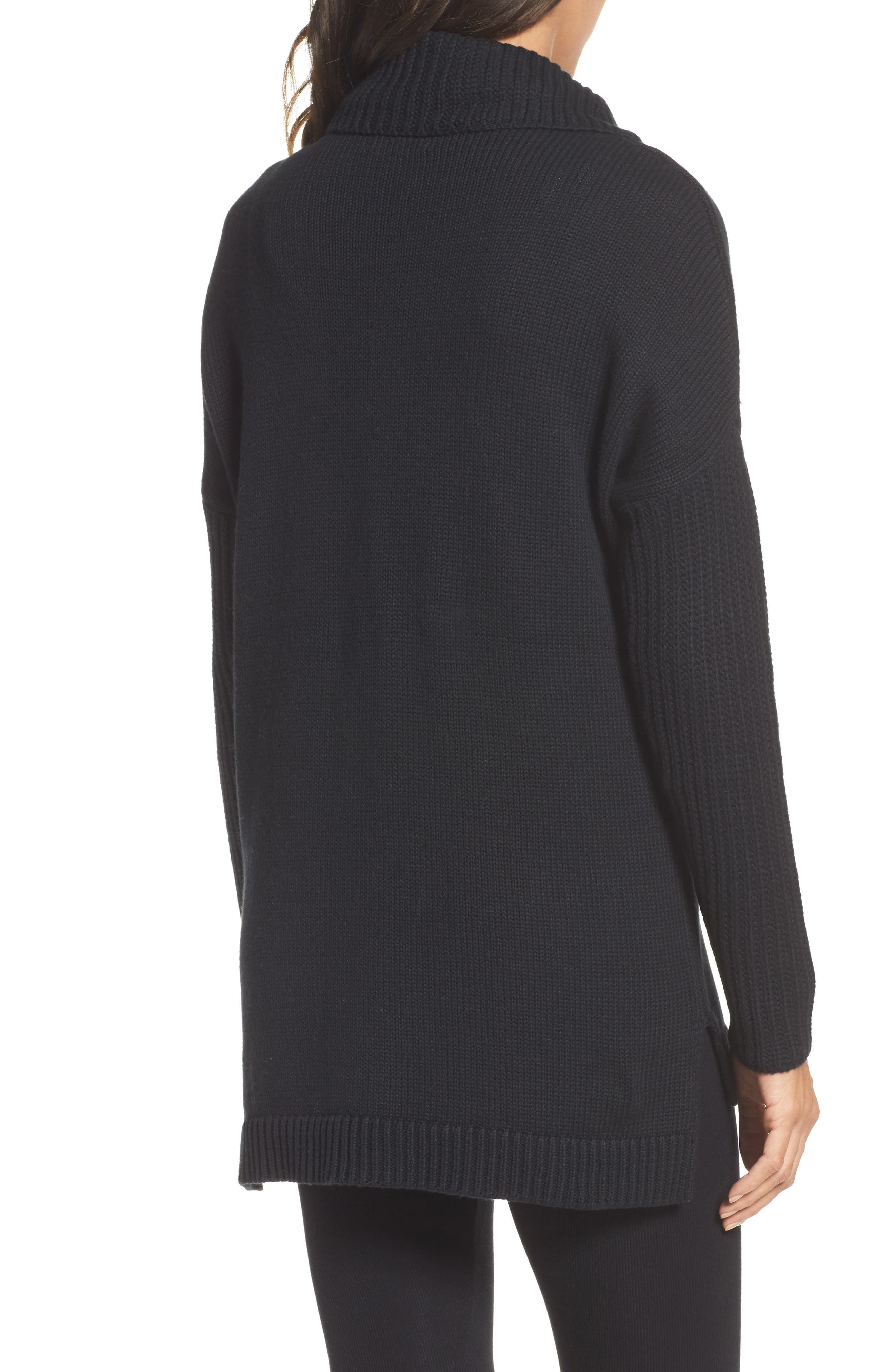 Cowl Neck Tunic Sweater,                             Alternate thumbnail 2, color,                             001