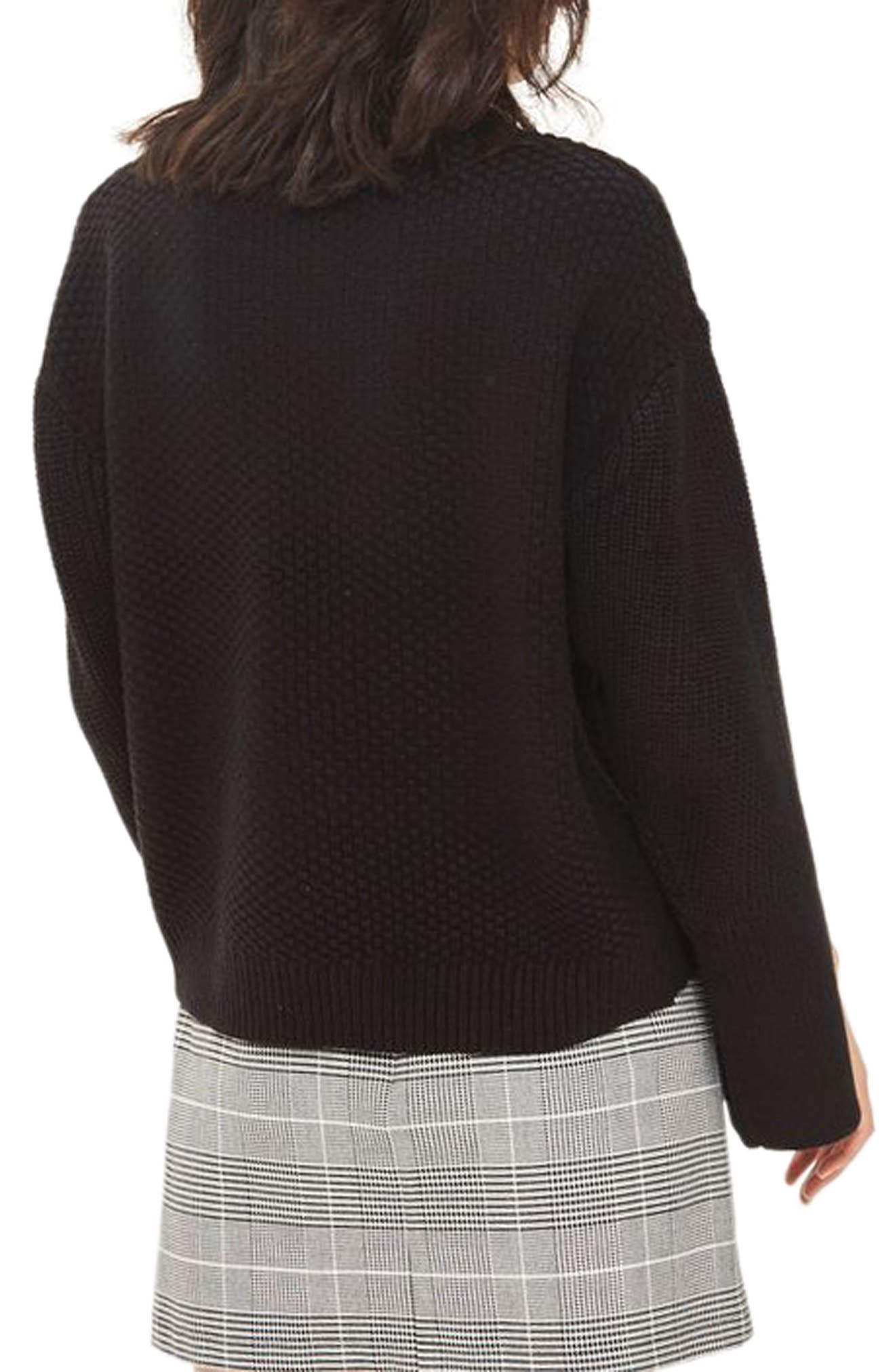 Wide Sleeve Sweater,                             Alternate thumbnail 2, color,                             001