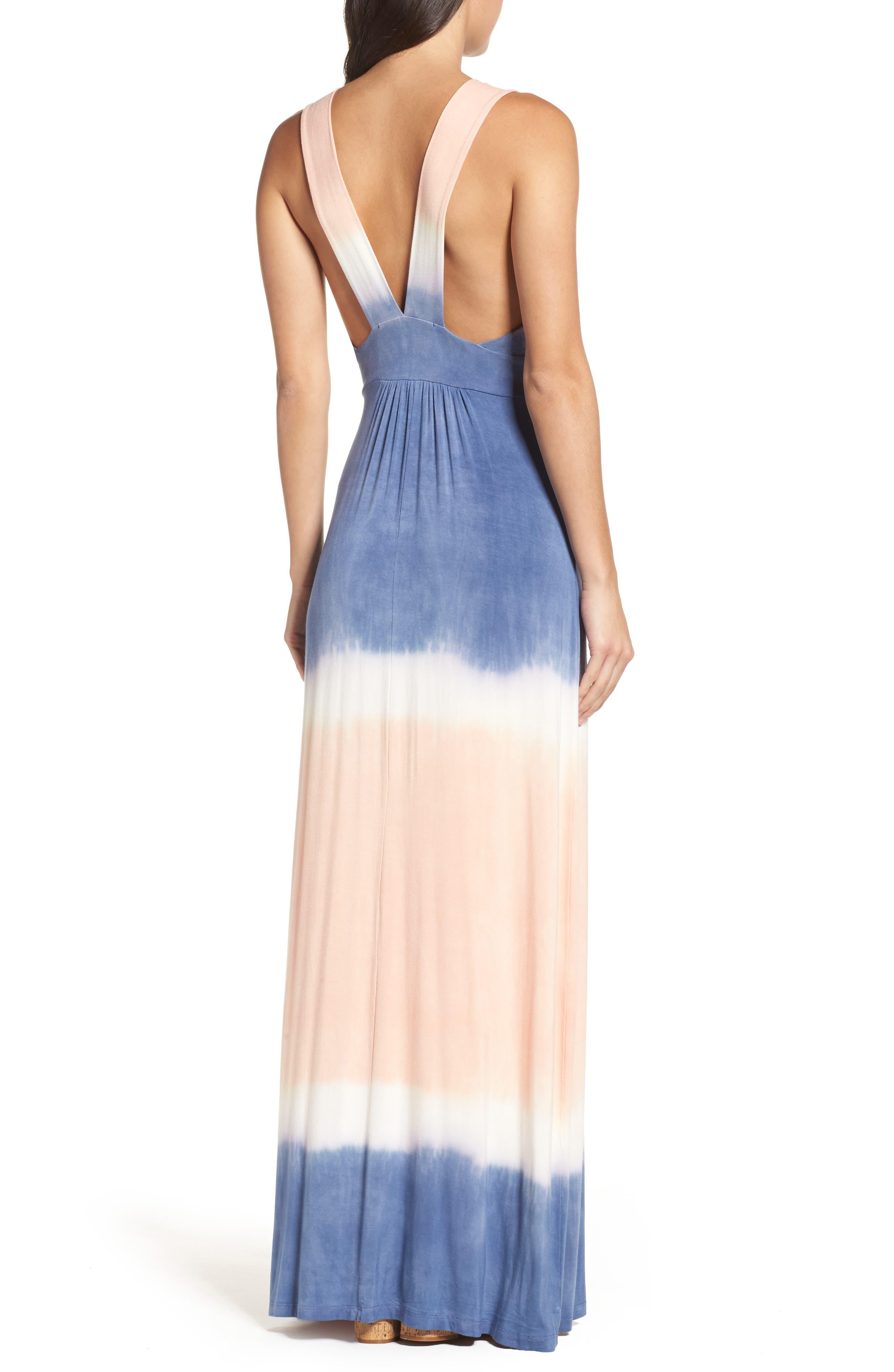 Tie Dye Sleeveless Maxi Dress,                             Alternate thumbnail 3, color,                             400