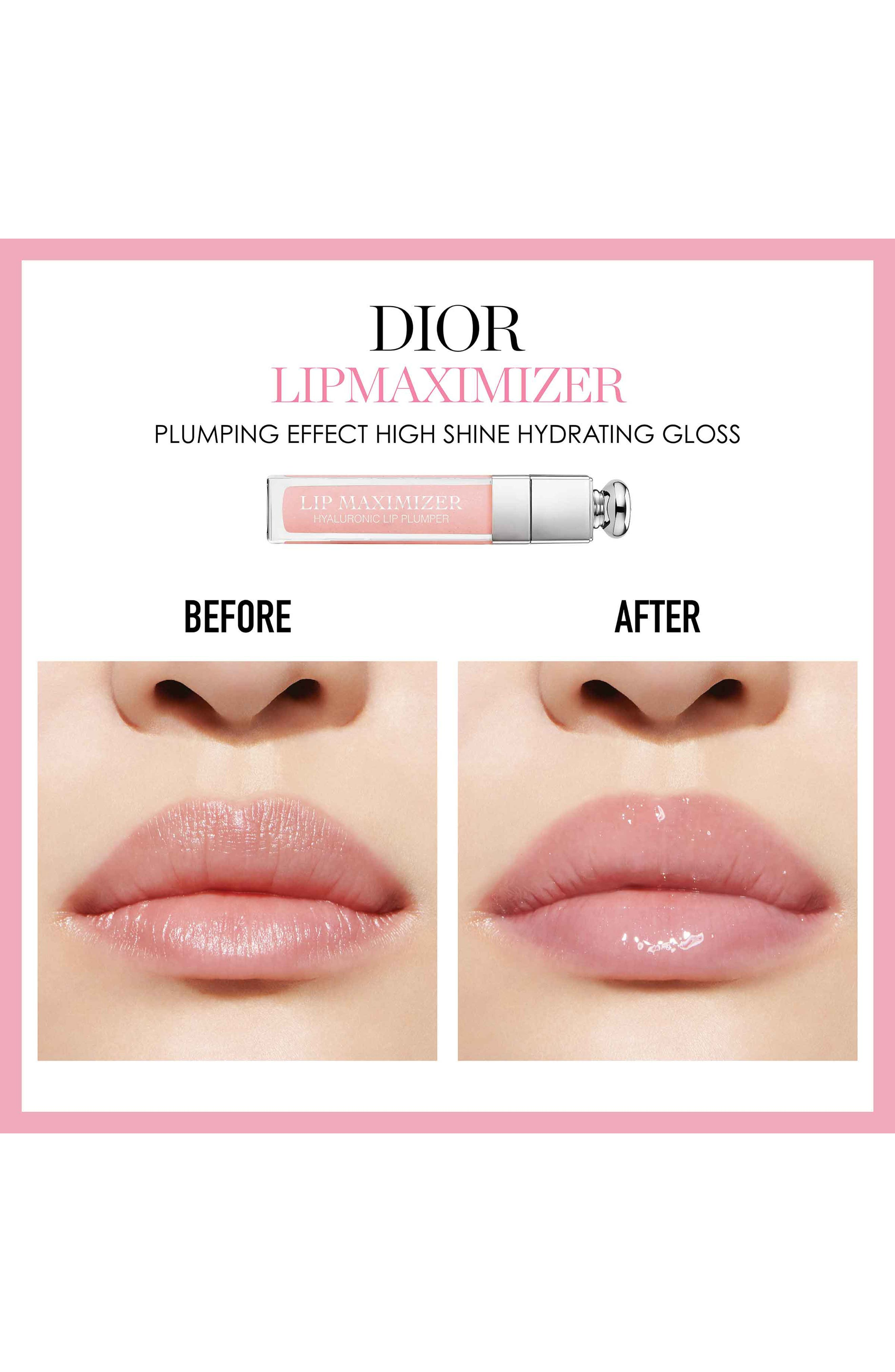 DIOR,                             Addict Lip Maximizer,                             Alternate thumbnail 5, color,                             007 RASPBERRY/ GLOW