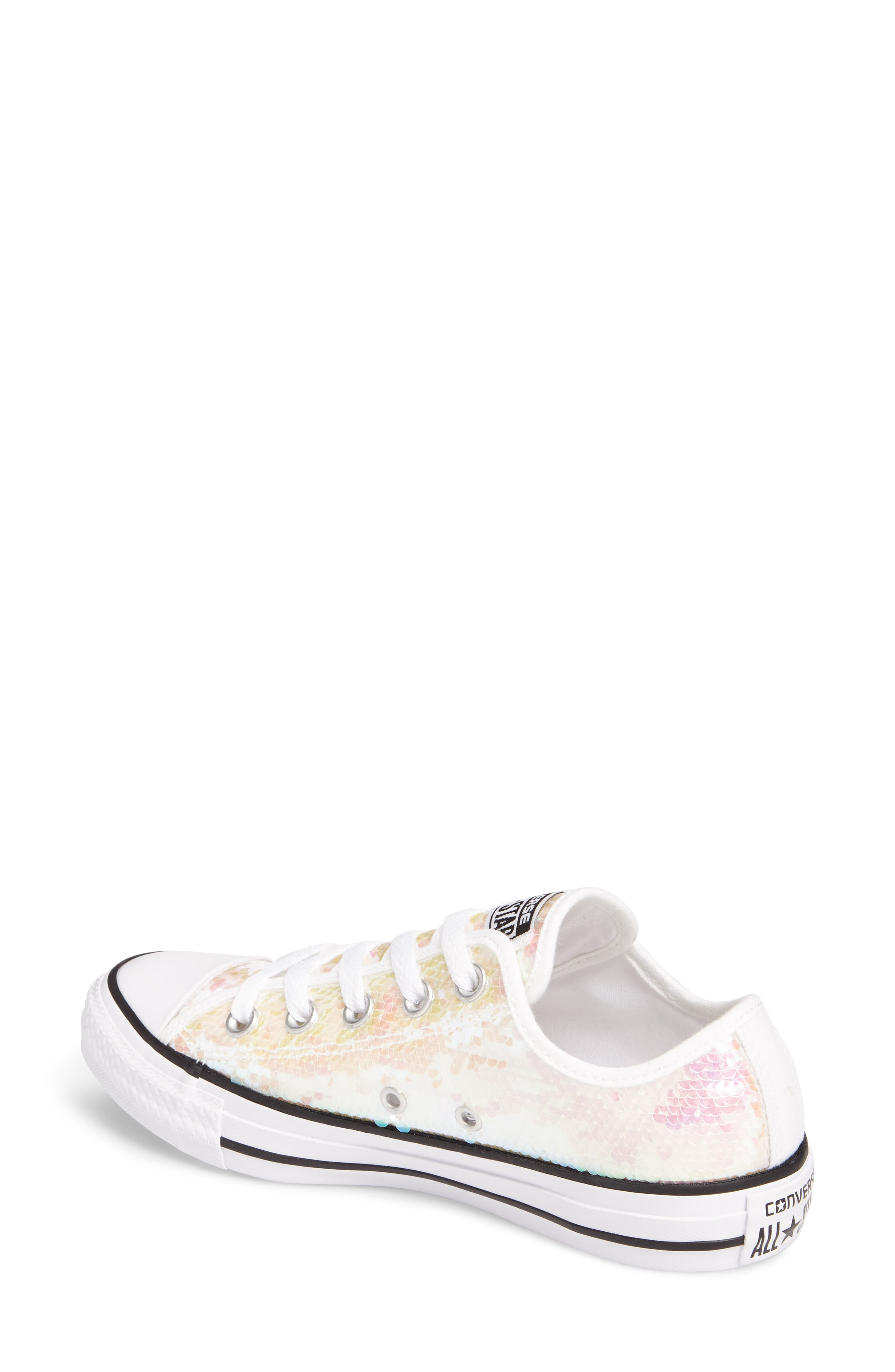 Chuck Taylor<sup>®</sup> All Star<sup>®</sup> Sequin Low Top Sneaker,                             Alternate thumbnail 4, color,