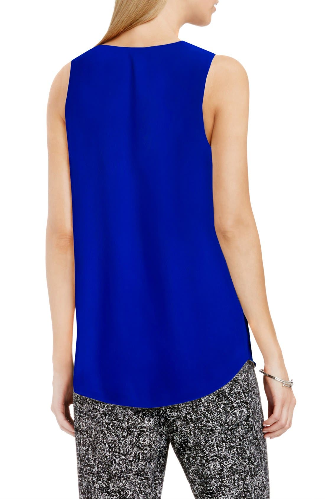 Drape Front V-Neck Sleeveless Blouse,                             Alternate thumbnail 85, color,