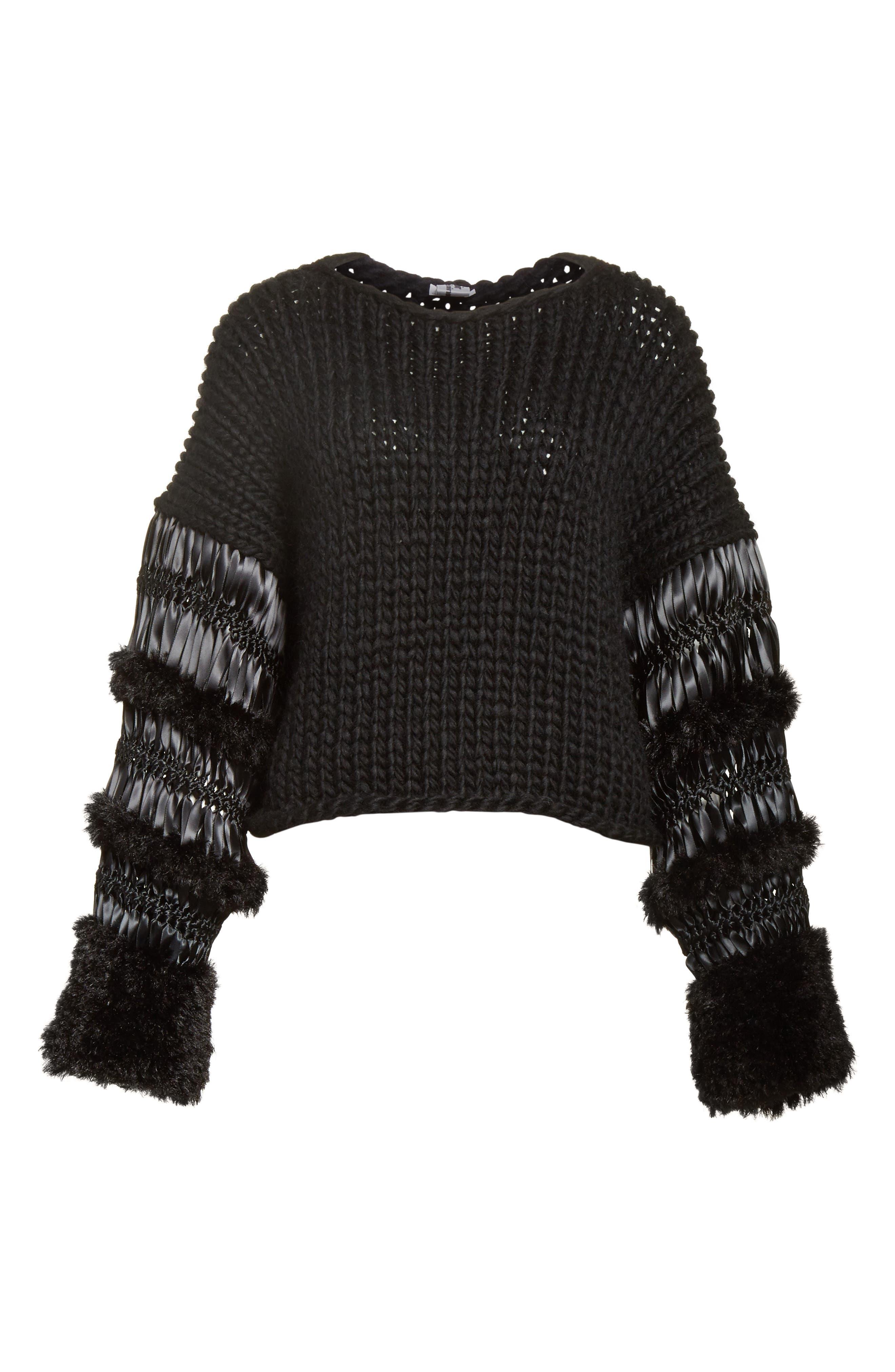 Mixed Media Sweater,                             Alternate thumbnail 6, color,