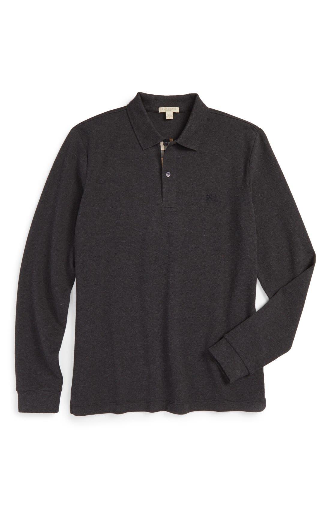 Brit 'Oxford' Long Sleeve Polo,                             Alternate thumbnail 21, color,