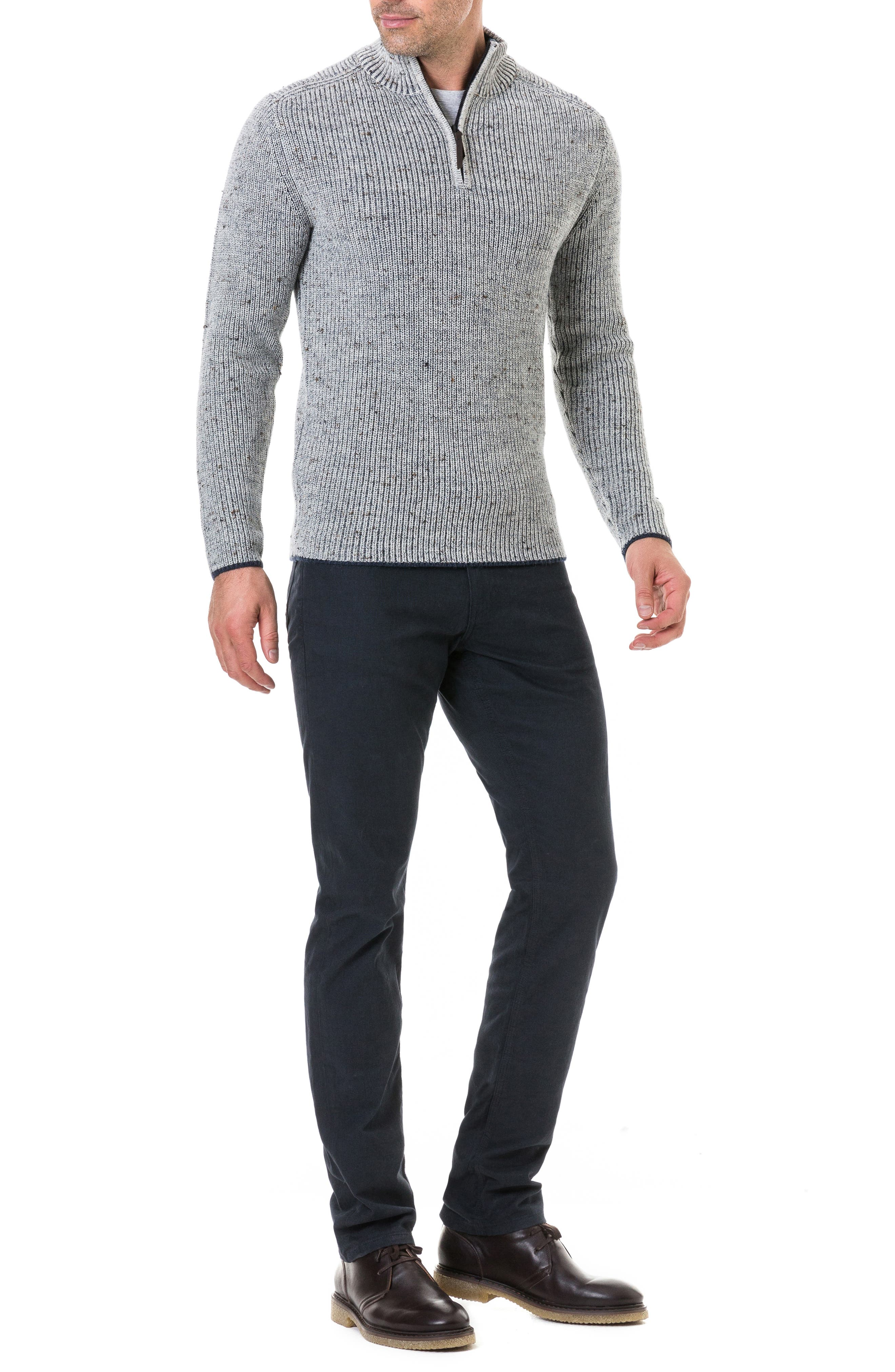 Slope Hill Wool Sweater,                             Alternate thumbnail 4, color,                             OATMEAL