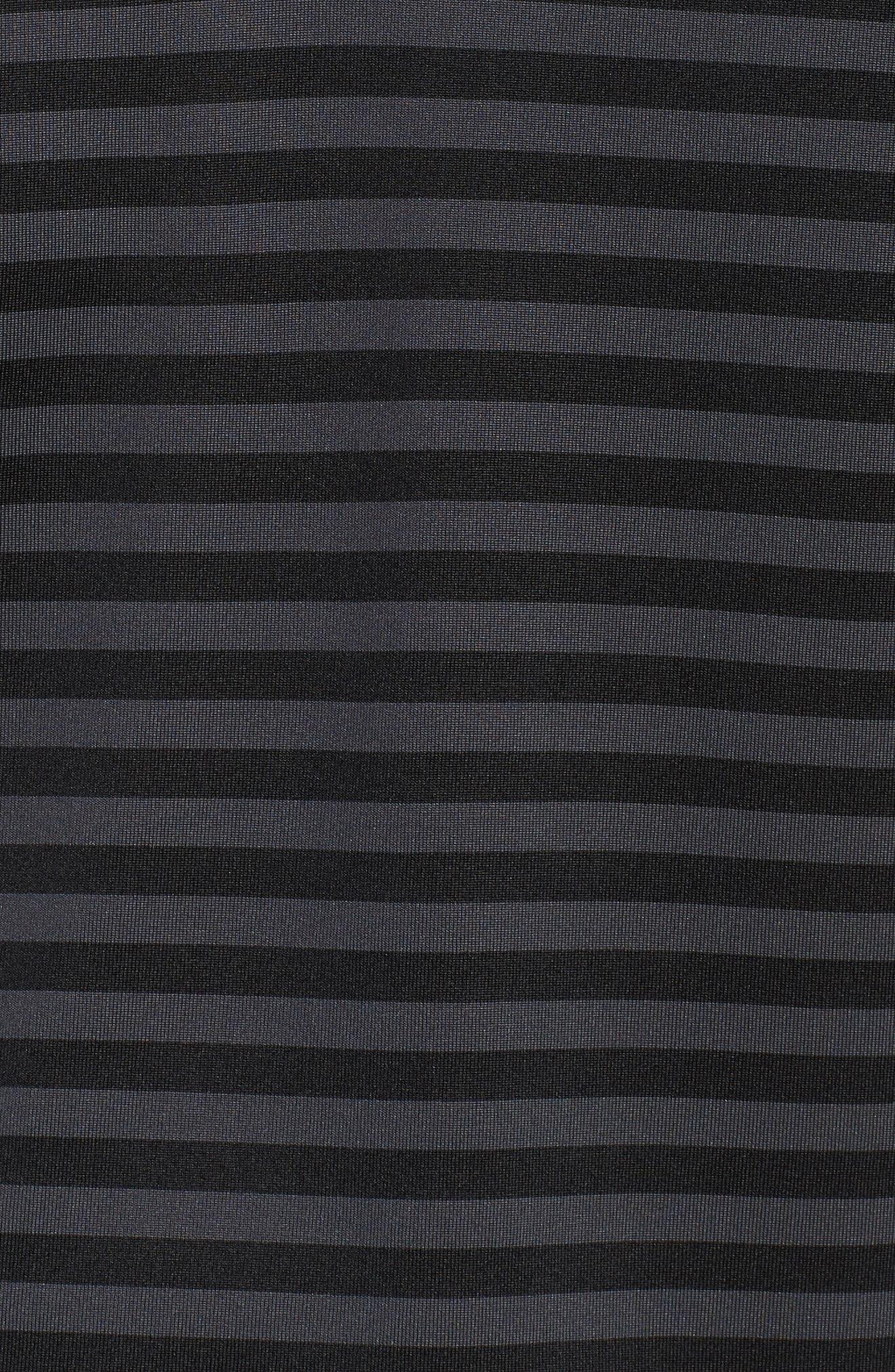 NIKE,                             Dry Victory Stripe Golf Polo,                             Alternate thumbnail 5, color,                             010
