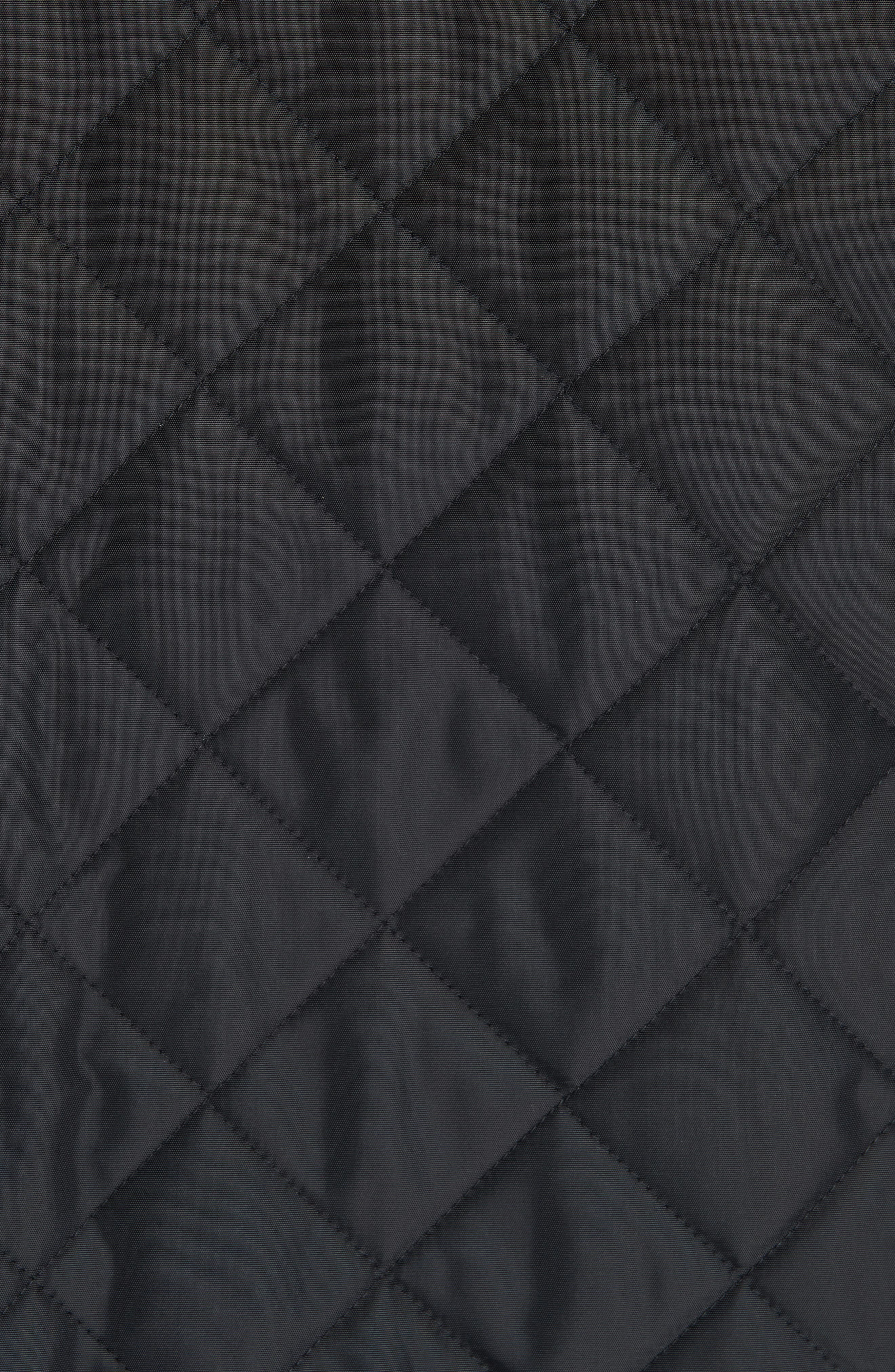 BURBERRY,                             Cotswold Quilted Jacket,                             Alternate thumbnail 6, color,                             BLACK