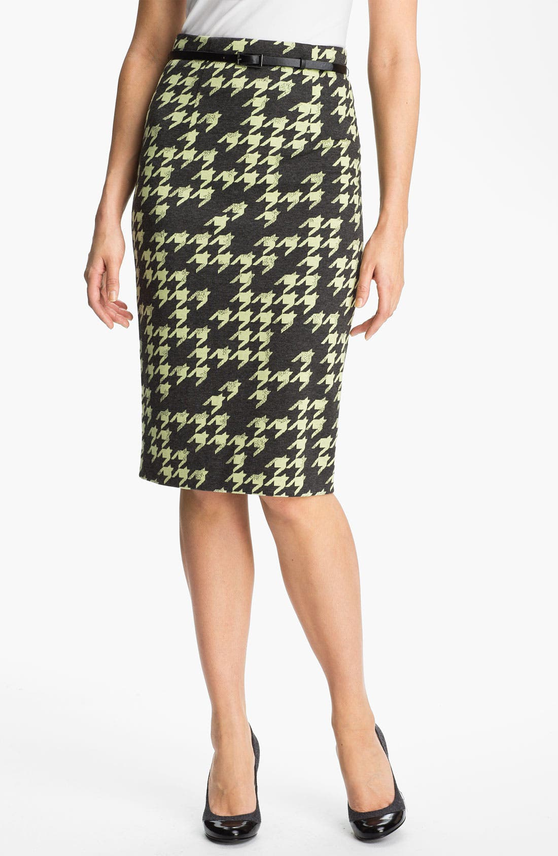 Belted Ponte Skirt,                             Main thumbnail 5, color,