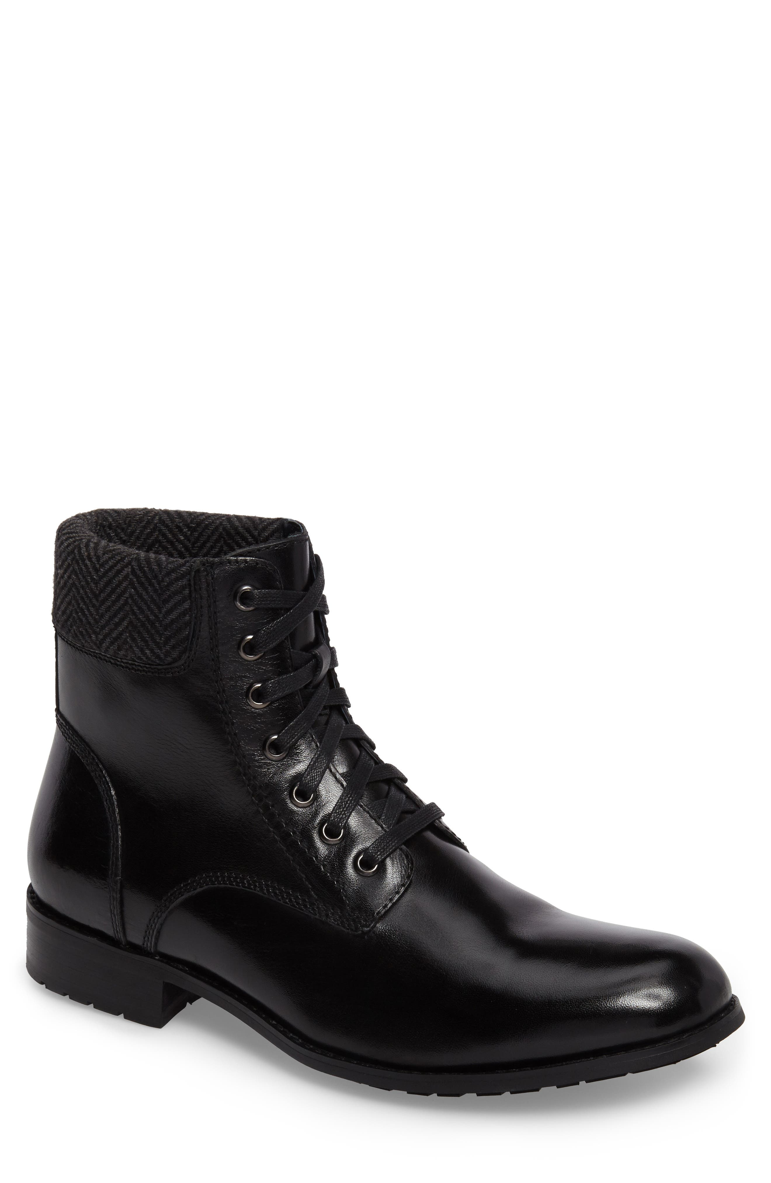 Saar Plain Toe Boot,                         Main,                         color, 001