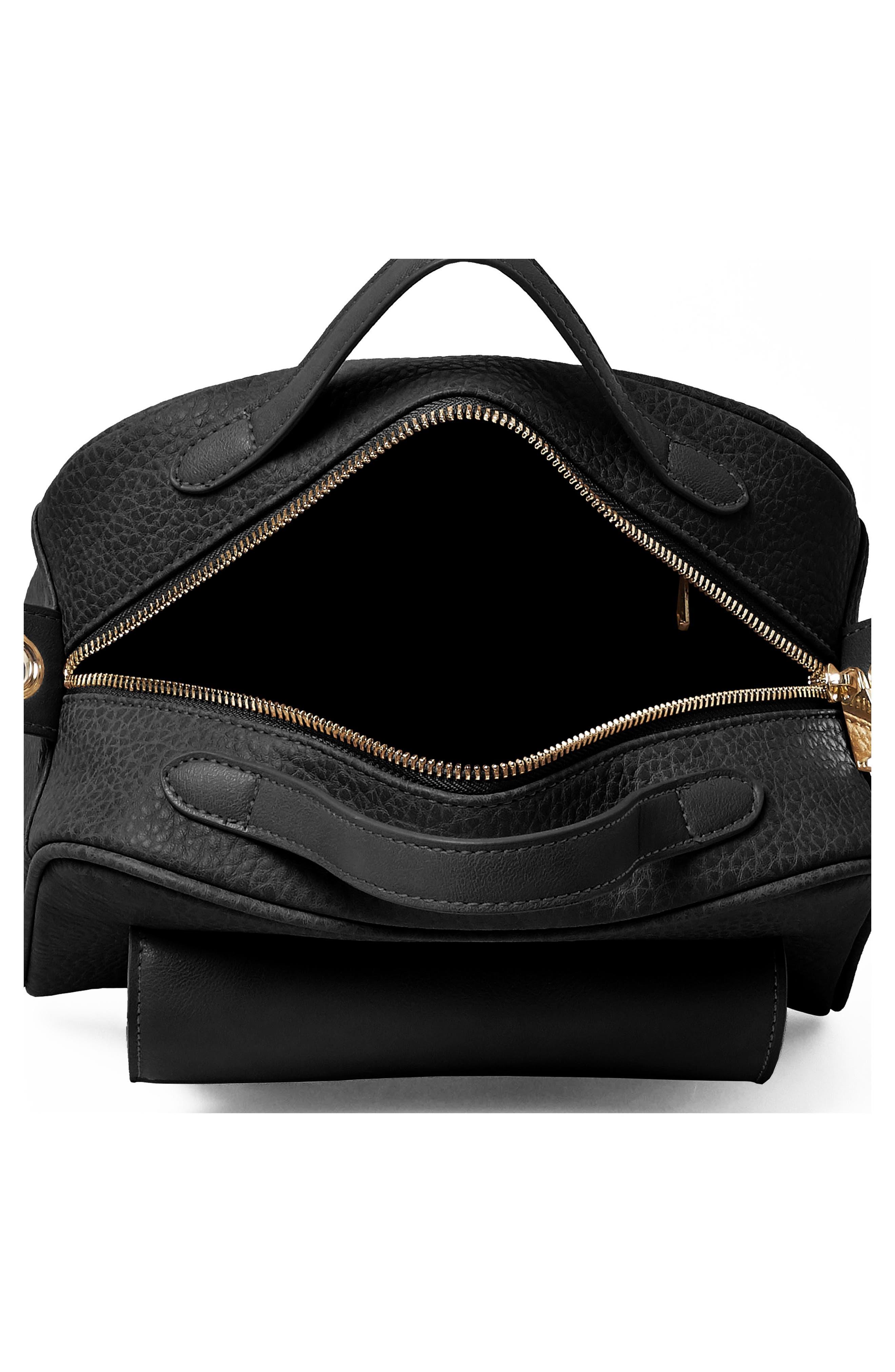 Easy Rider Vegan Leather Crossbody Bag,                             Alternate thumbnail 4, color,