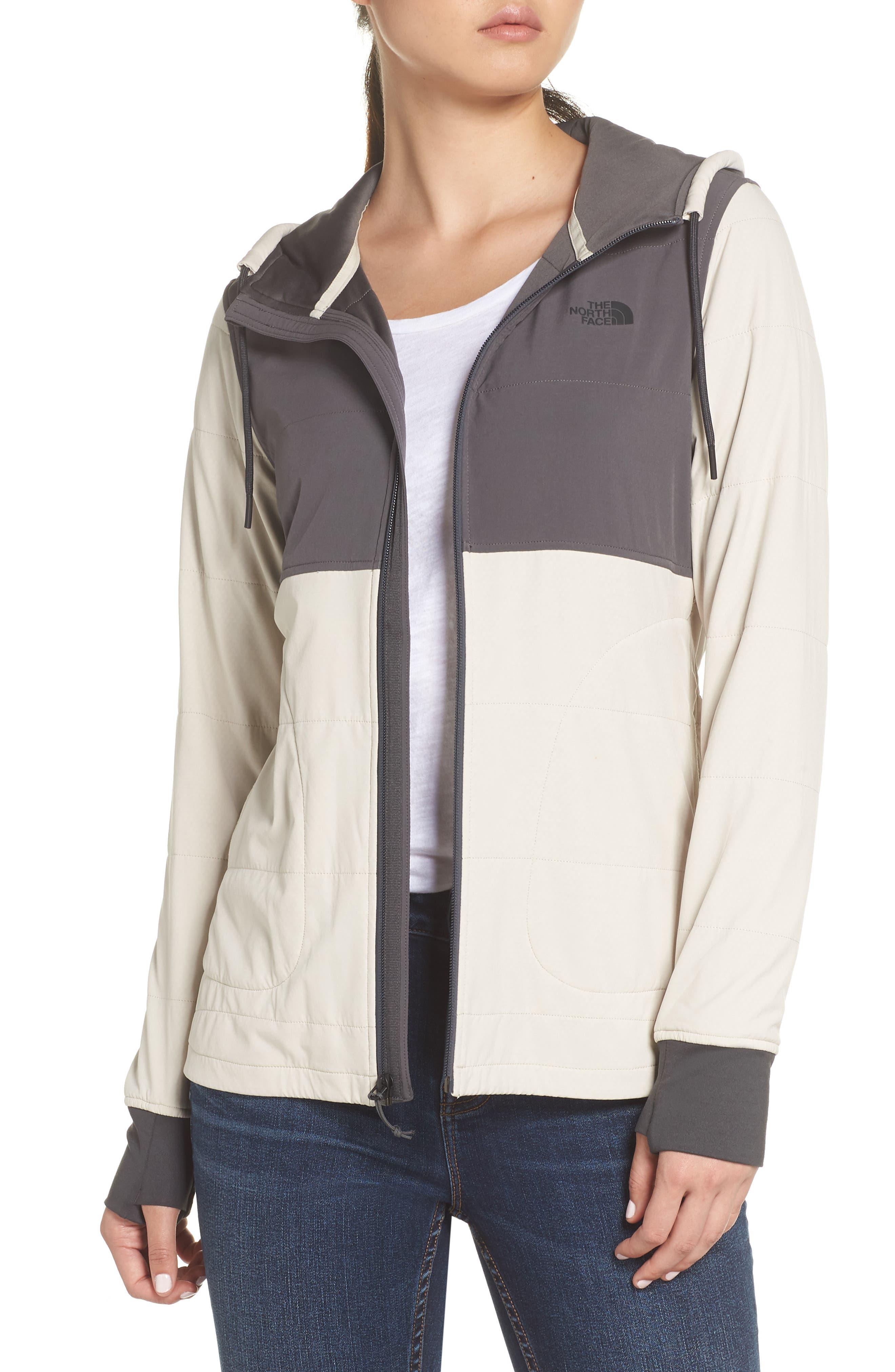Mountain Zip Hooded Sweatshirt,                         Main,                         color, PEYOTE BEIGE/ GRAPHITE GREY