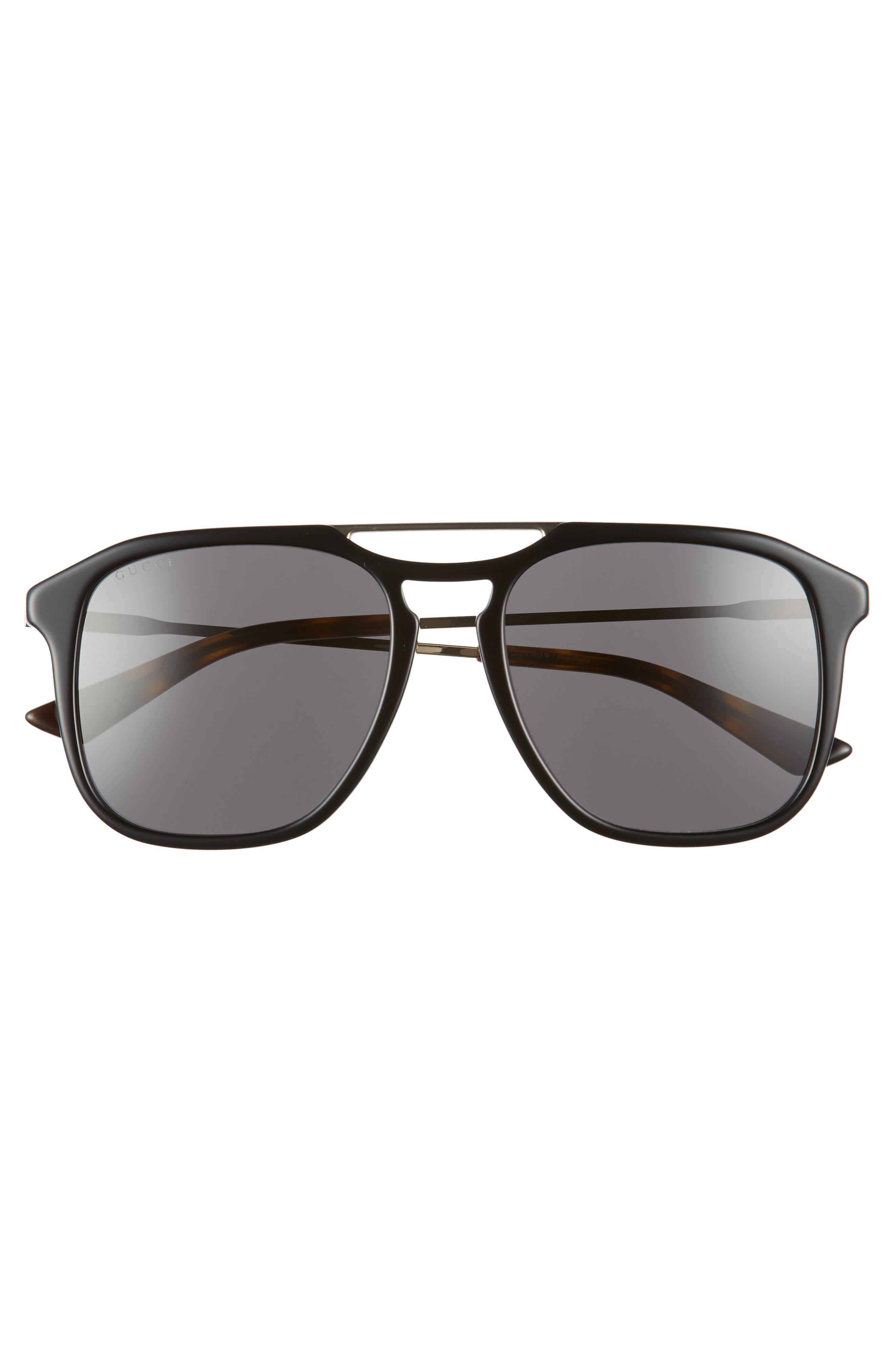 Light Combi 55mm Aviator Sunglasses,                             Alternate thumbnail 2, color,                             GOLD/ DARK HAVANA