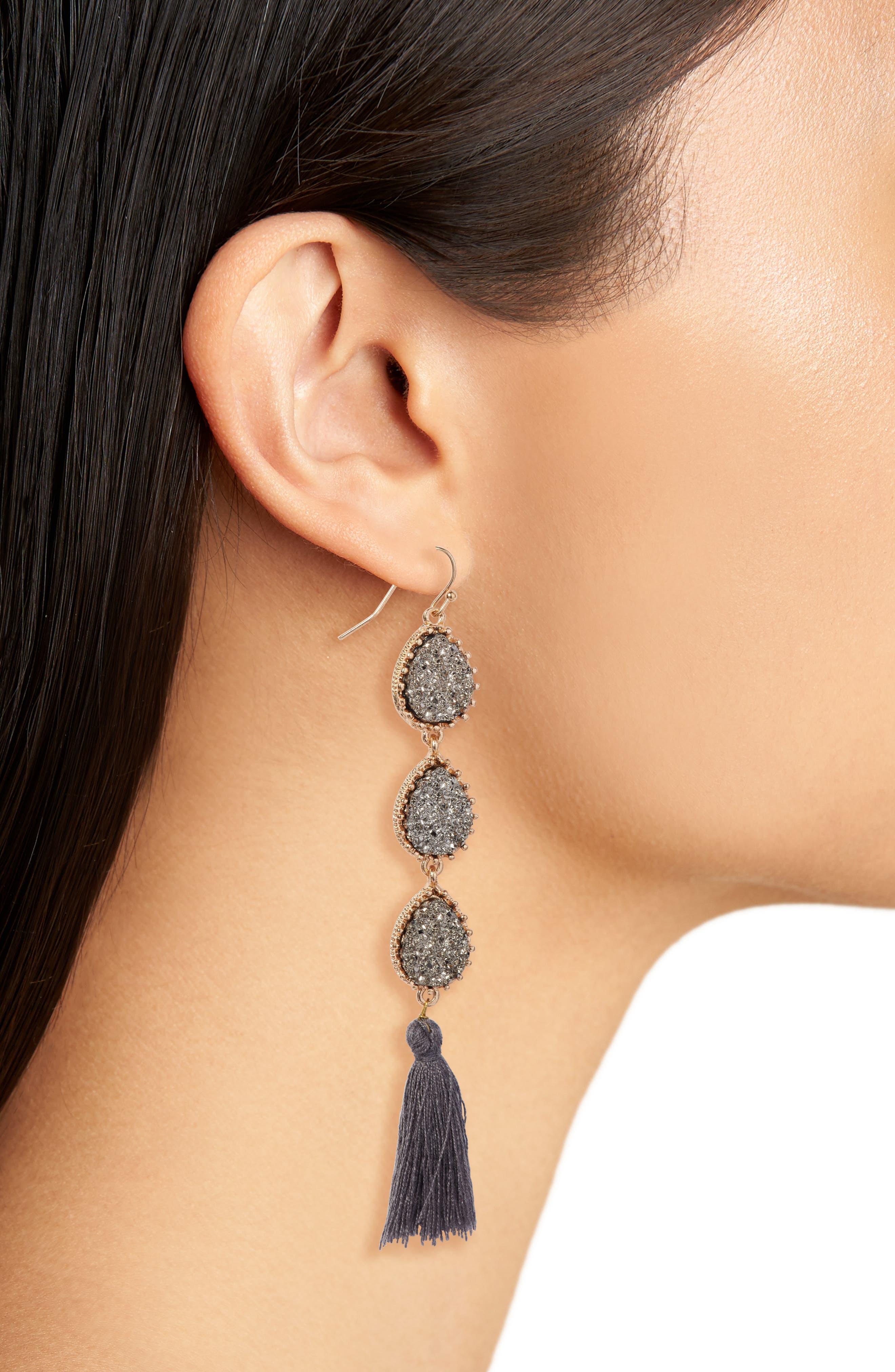Linear Earrings,                             Alternate thumbnail 4, color,