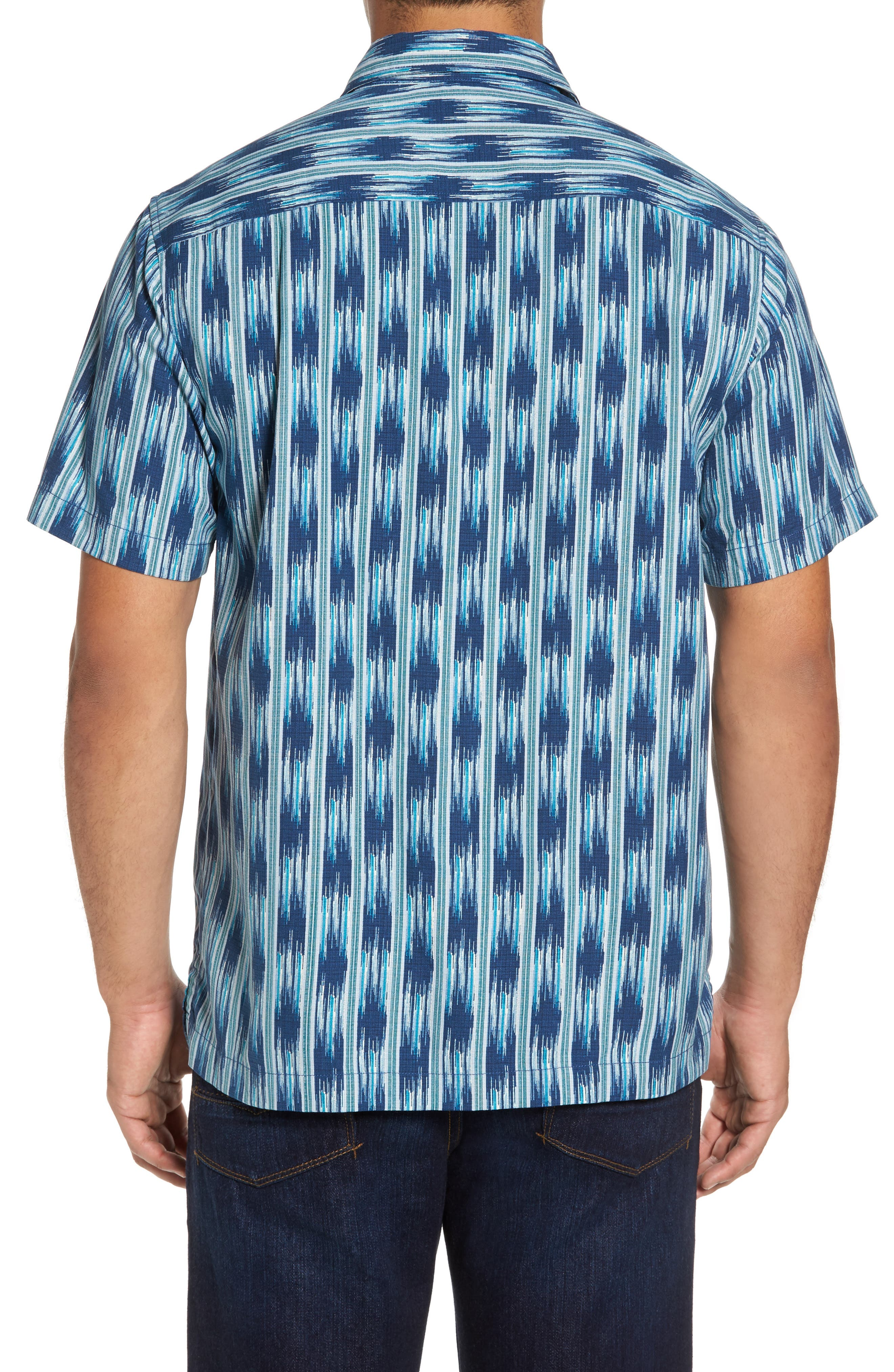Ikat on a Hot Tin Roof Silk Blend Camp Shirt,                             Alternate thumbnail 2, color,                             400
