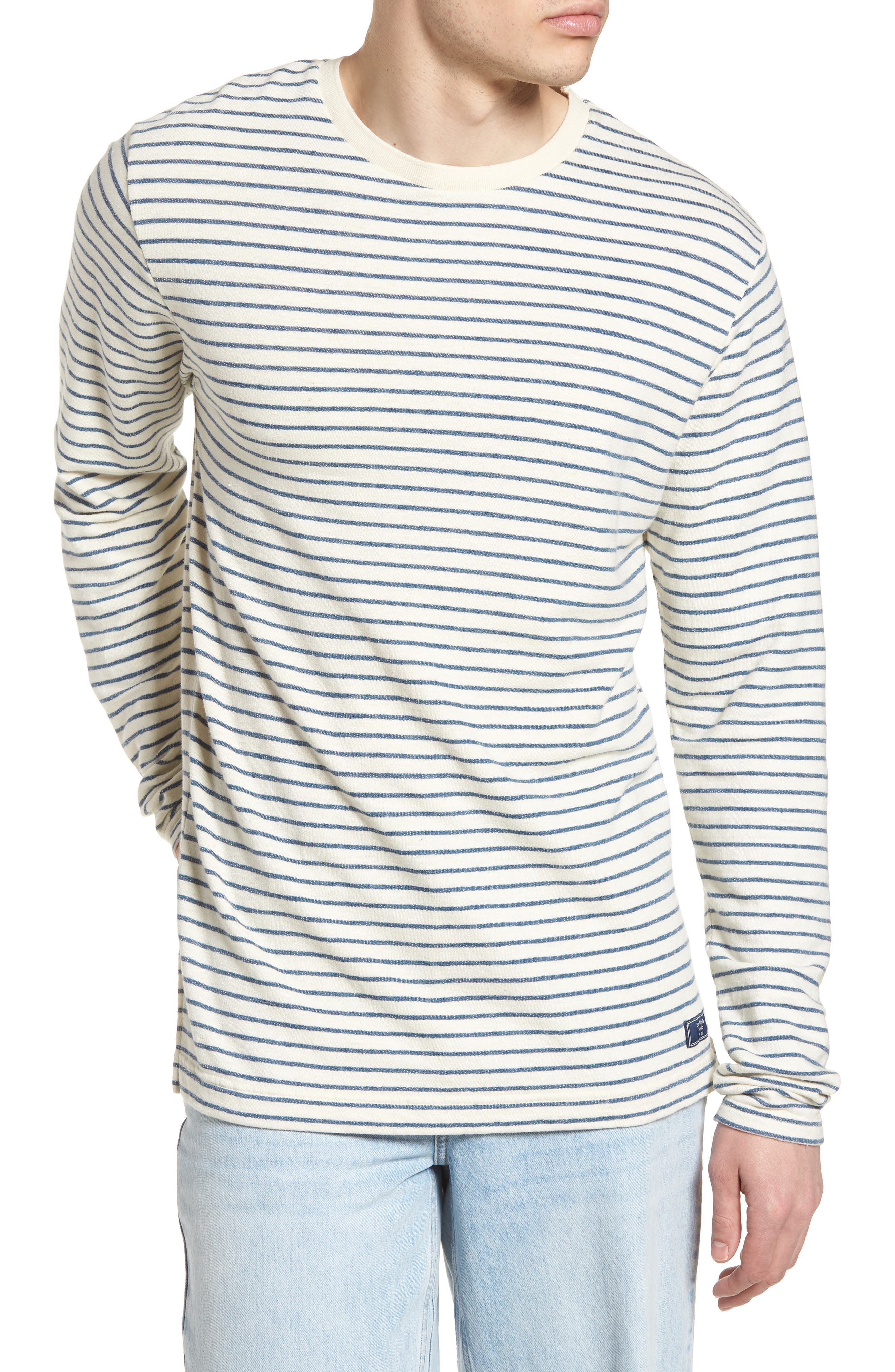 Stripe Crewneck Sweater,                         Main,                         color, 250