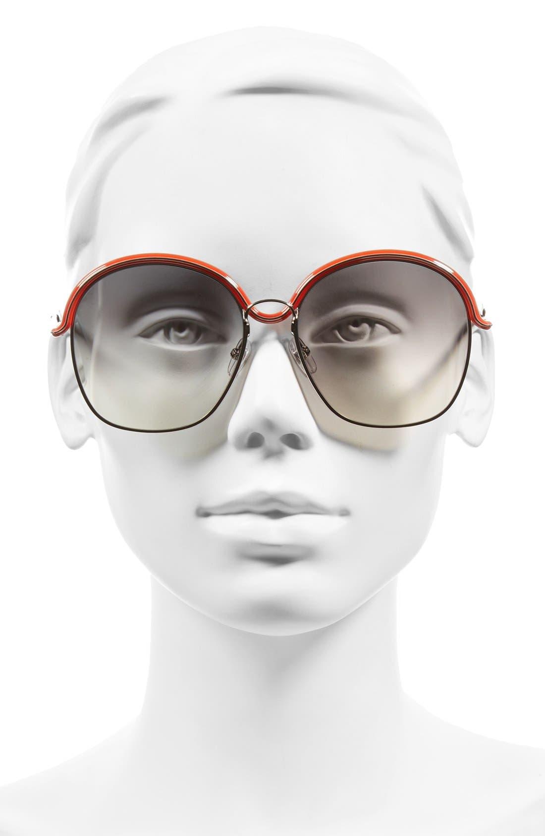 7030/S 58mm Oversized Sunglasses,                             Alternate thumbnail 3, color,                             040