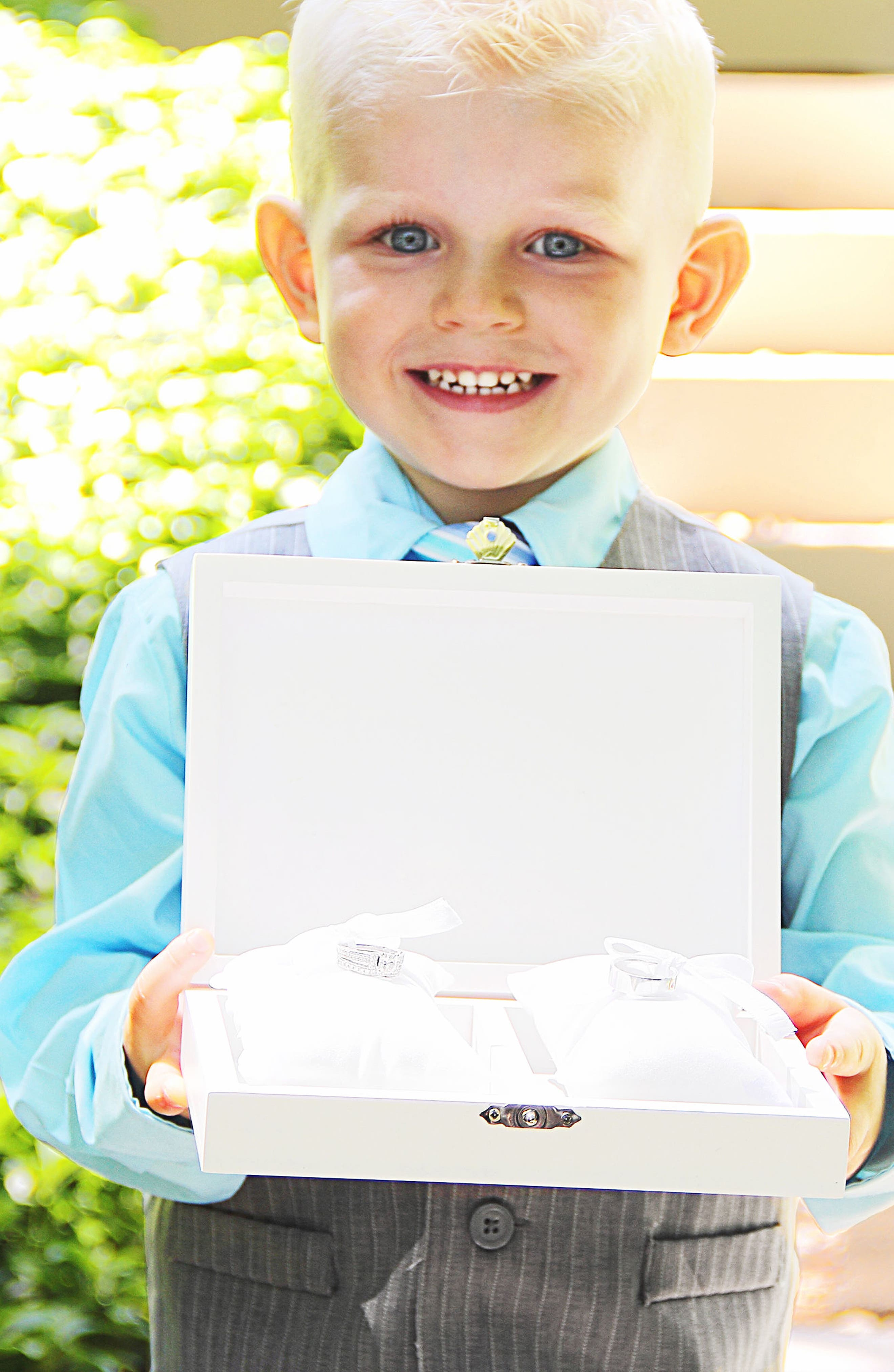Monogram Floral Wedding Ring Box,                             Alternate thumbnail 32, color,