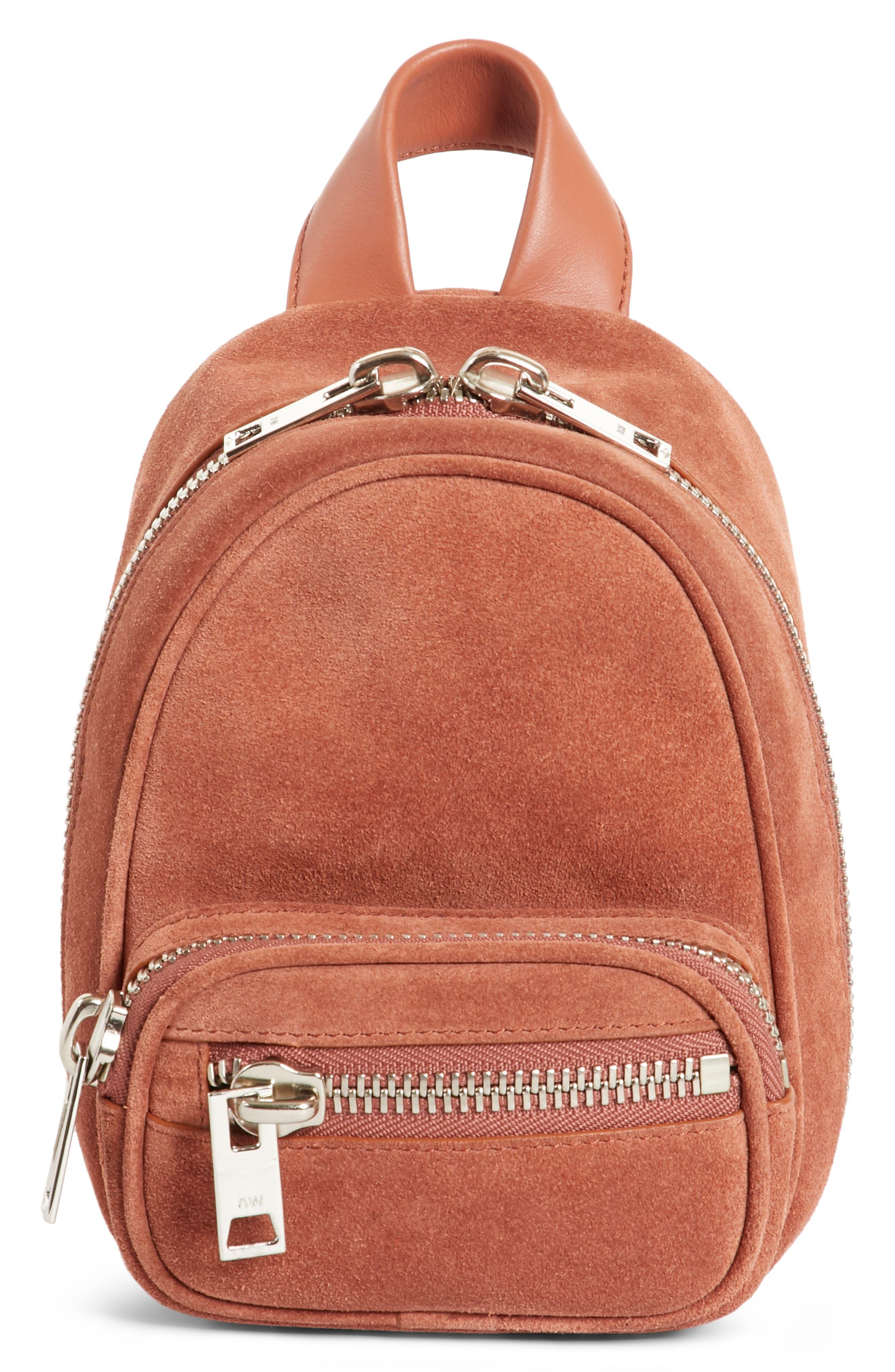 Mini Attica Suede Backpack-Shaped Crossbody Bag,                             Main thumbnail 1, color,                             200