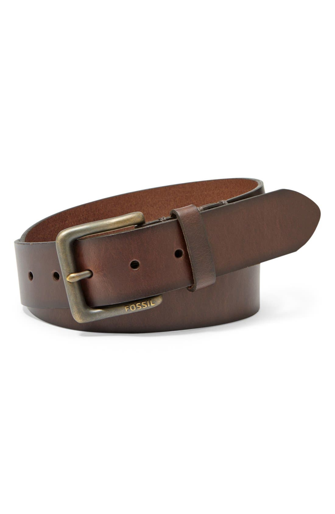 FOSSIL 'Artie' Belt, Main, color, 201