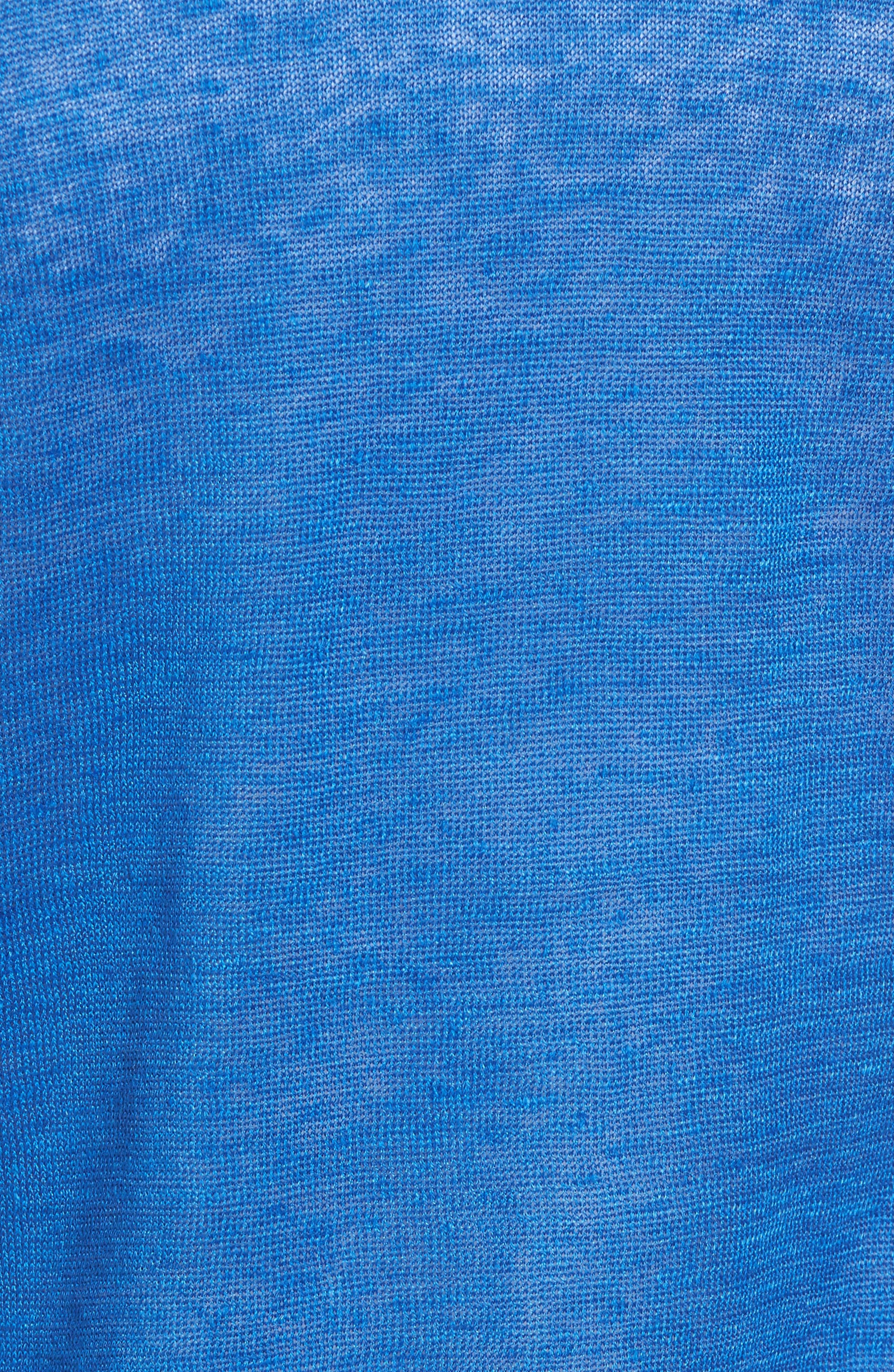 Lea Linen Cardigan,                             Alternate thumbnail 5, color,                             COBALT