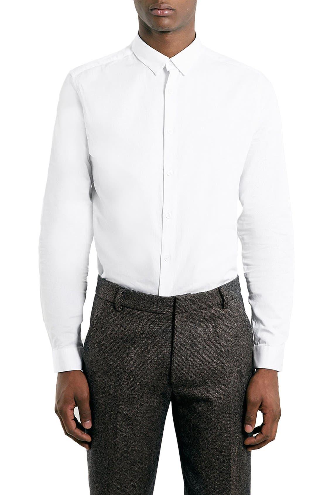 Dress Shirt,                         Main,                         color, WHITE