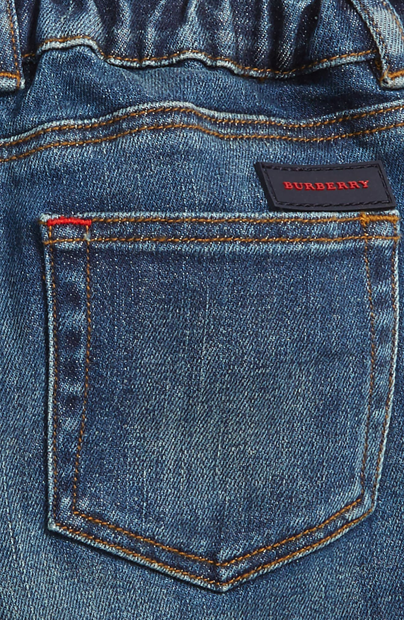 Check Cuff Relaxed Jeans,                             Alternate thumbnail 8, color,
