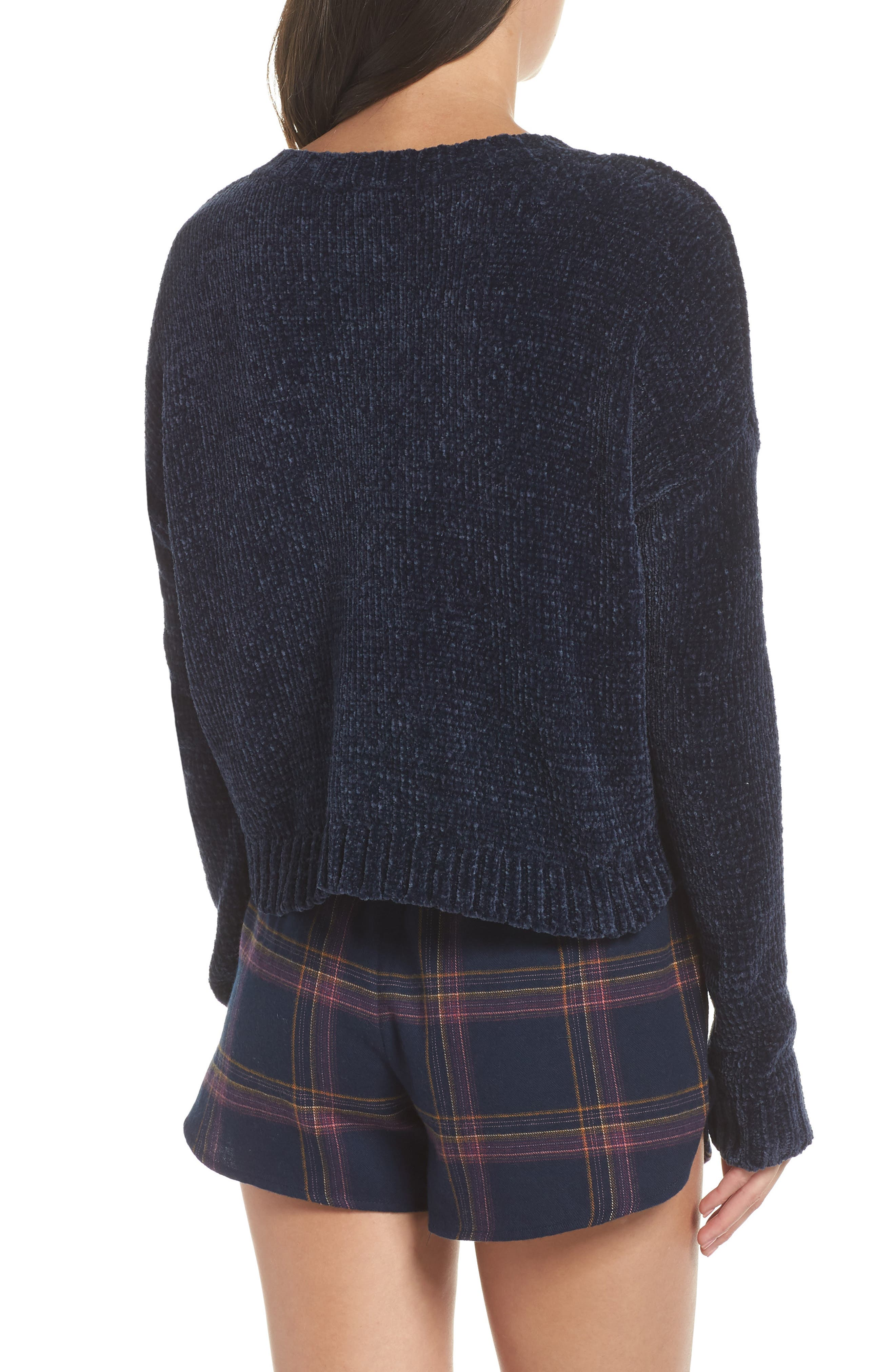 Crop Chenille Sweater,                             Alternate thumbnail 2, color,                             410