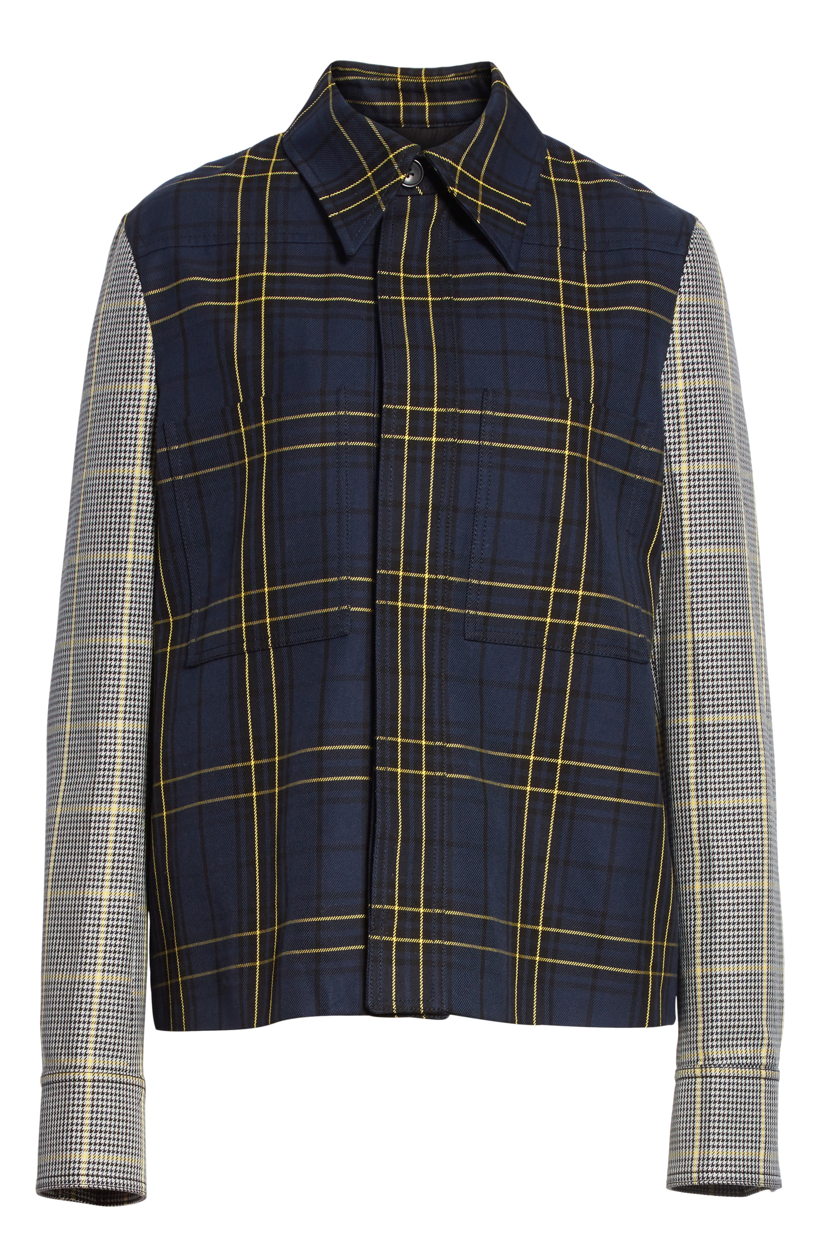 Coen Check Patchwork Jacket,                             Alternate thumbnail 5, color,