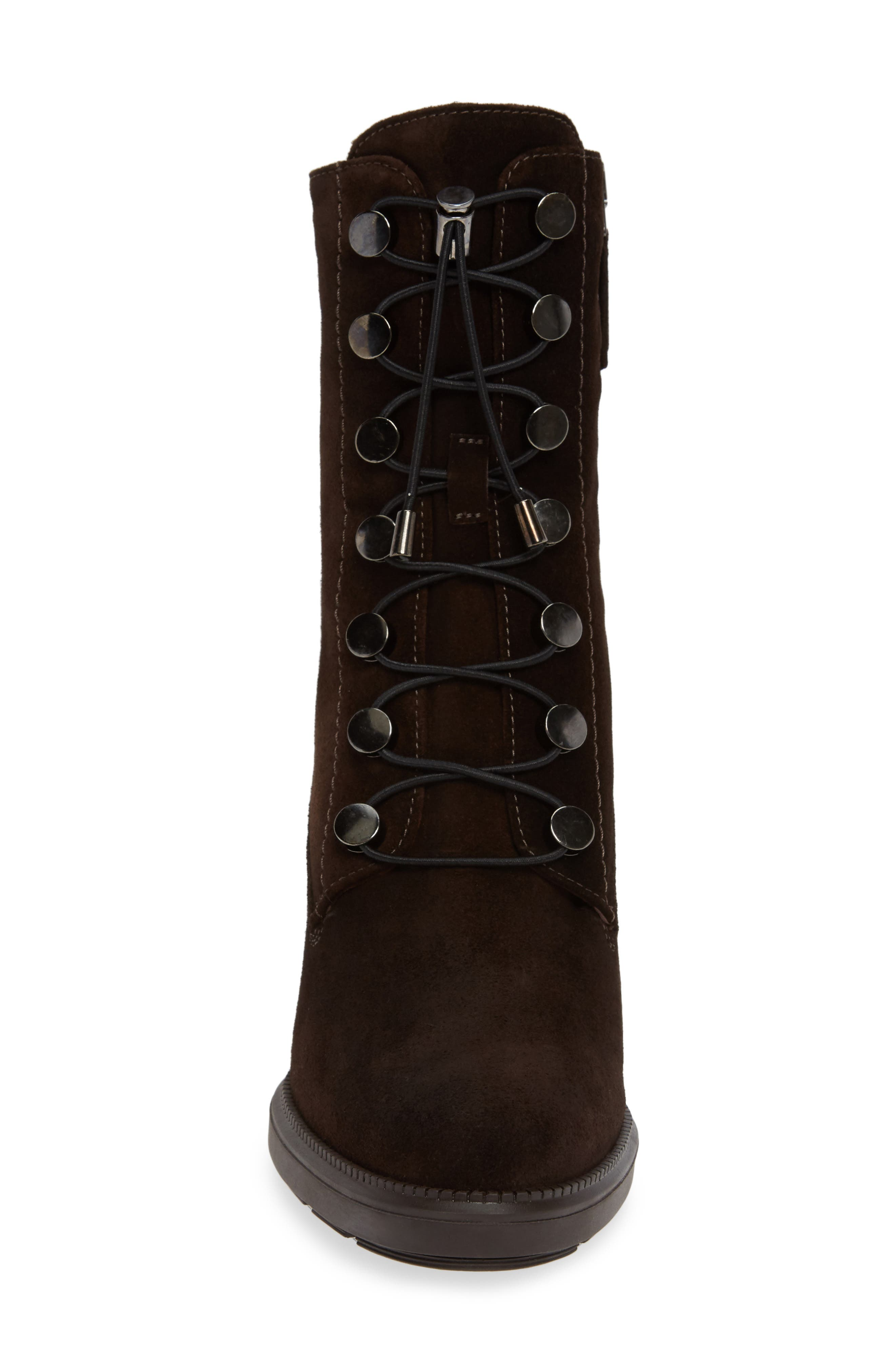 Campbell Wedge Boot,                             Alternate thumbnail 4, color,                             ESPRESSO SUEDE