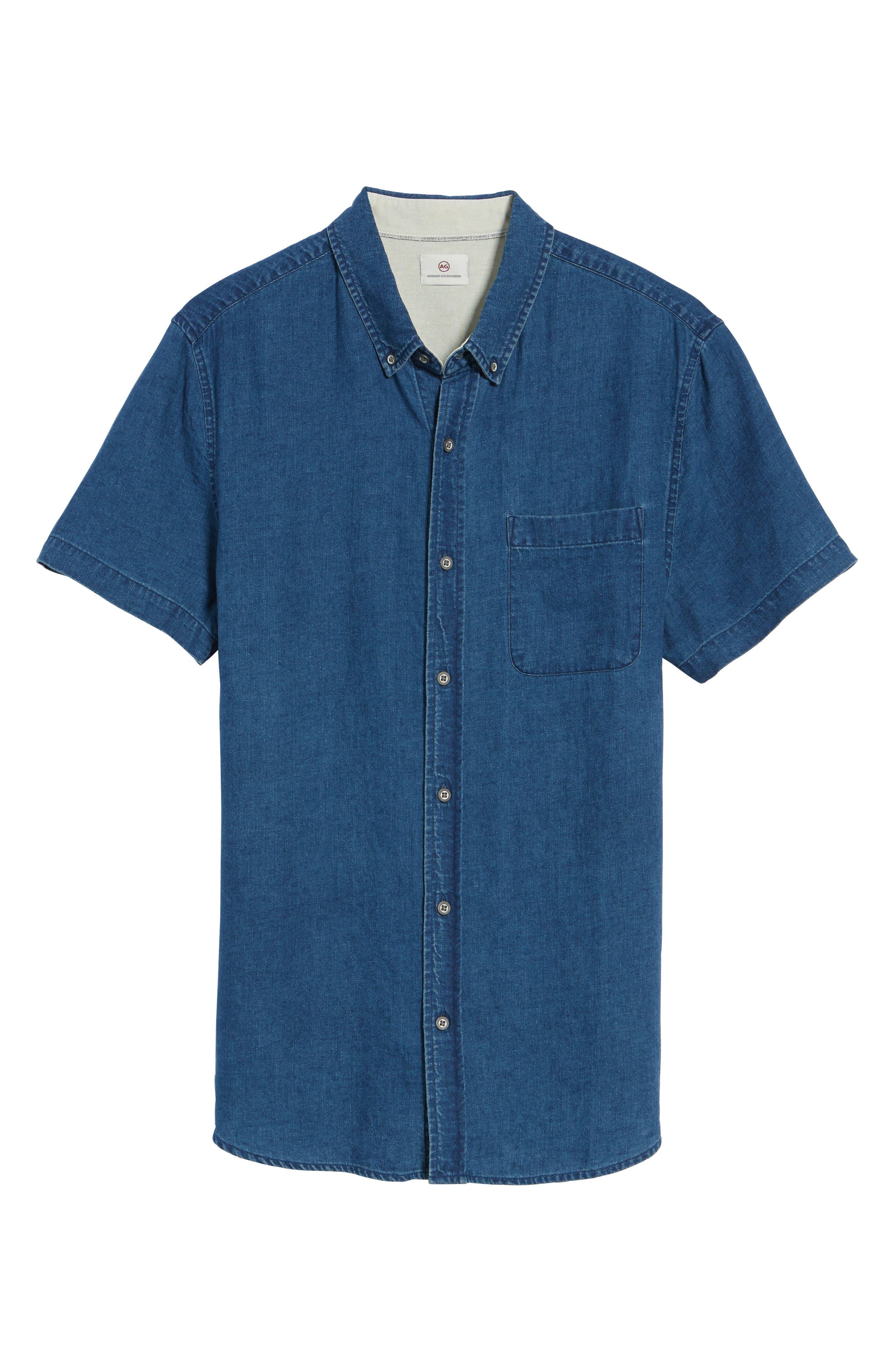Nash Slim Fit Linen & Cotton Sport Shirt,                             Alternate thumbnail 6, color,                             404