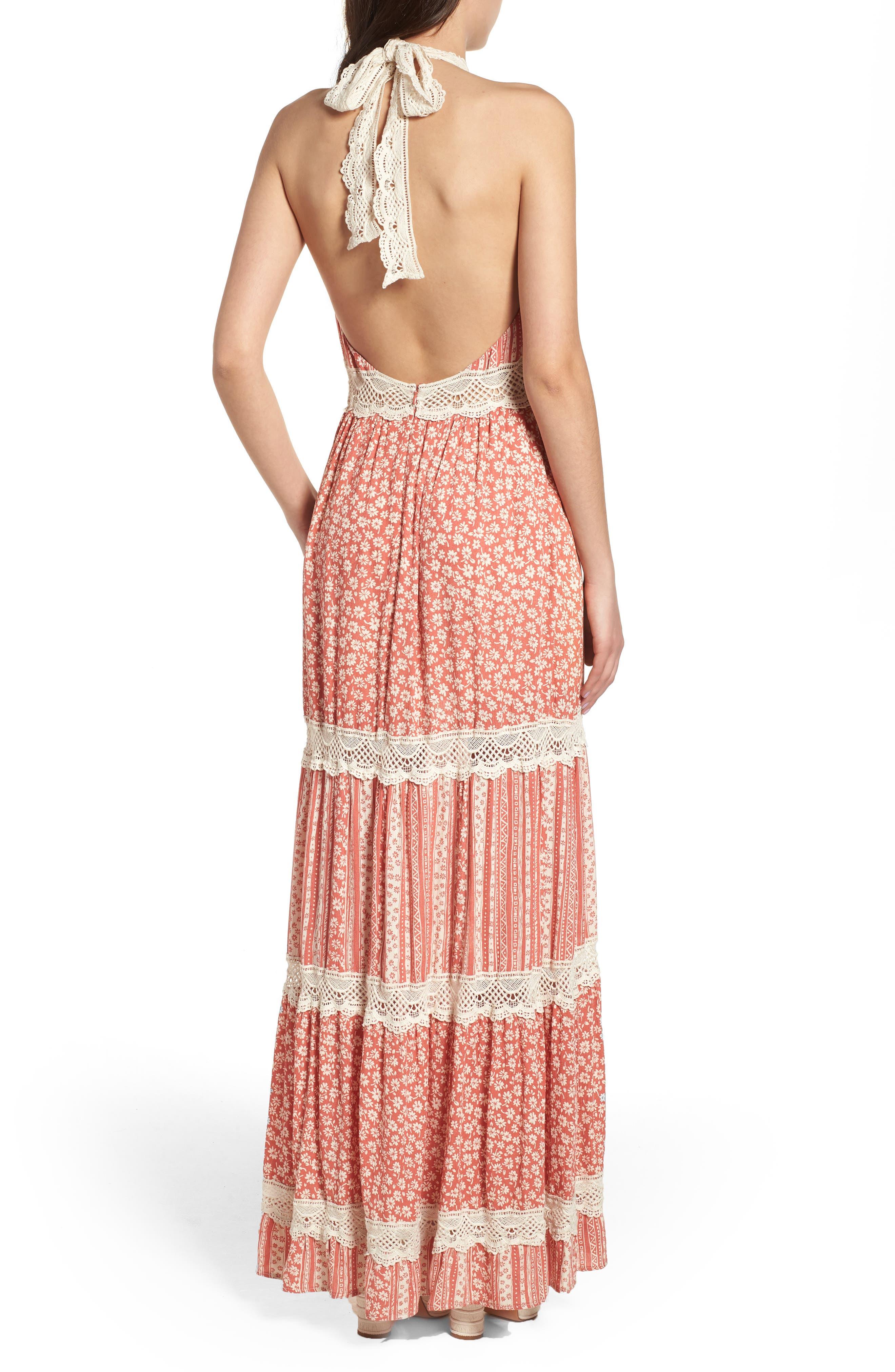 Sun's Out Halter Maxi Dress,                             Alternate thumbnail 2, color,                             951