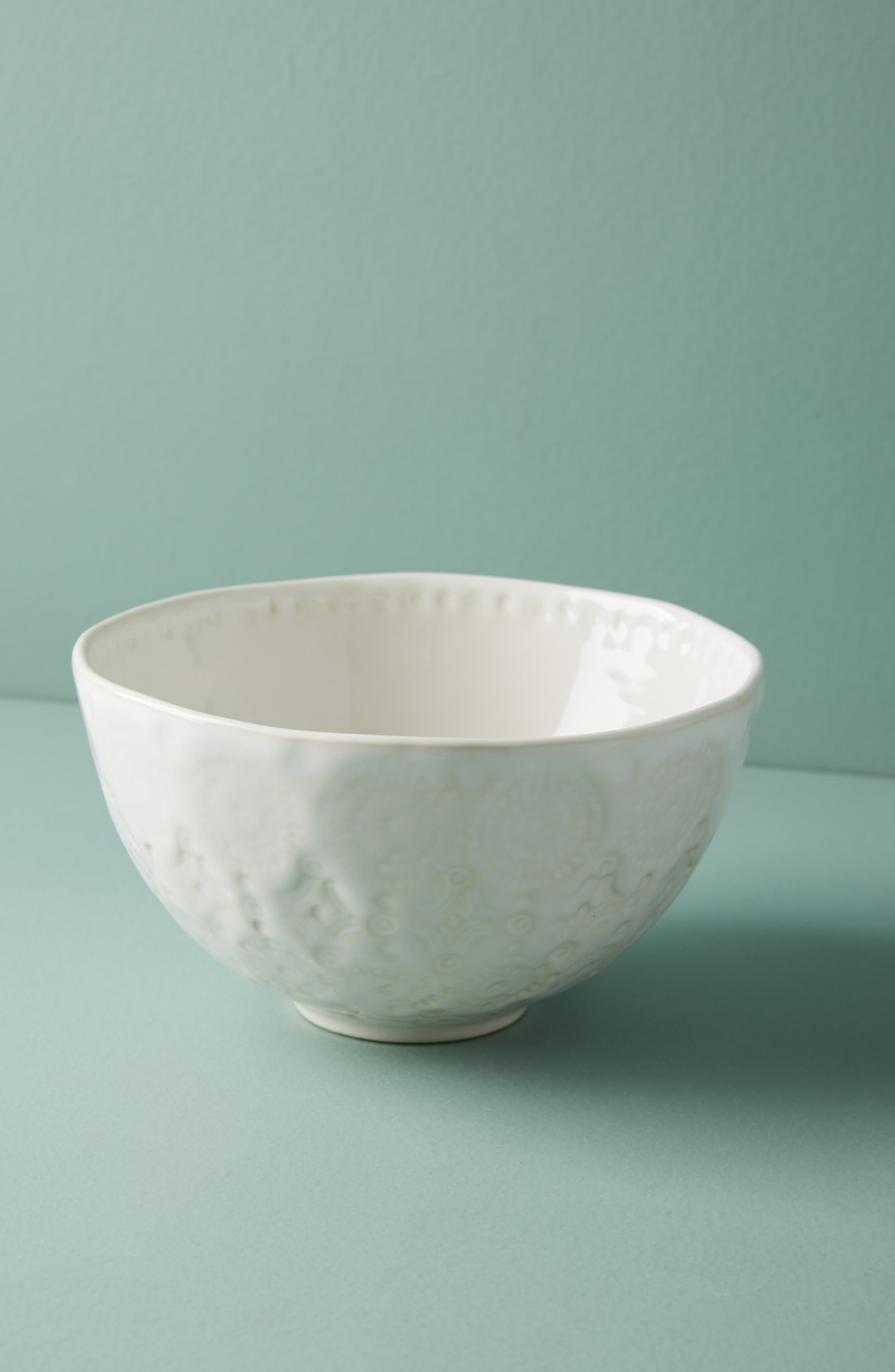 Old Havana Stoneware Cereal Bowl,                             Main thumbnail 1, color,                             WHITE