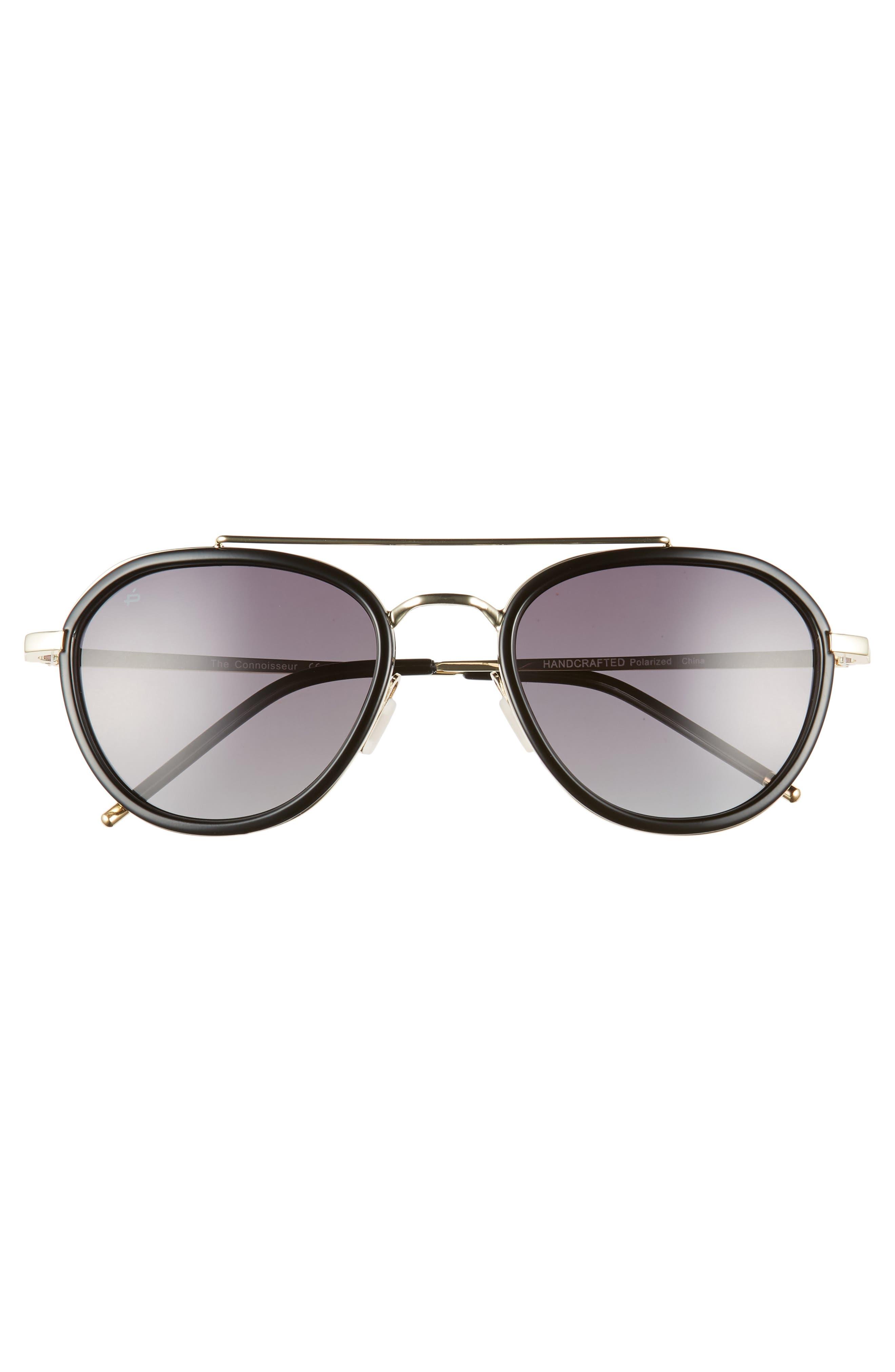 PRIVÉ REVAUX,                             The Connoisseur 53mm Polarized Sunglasses,                             Alternate thumbnail 2, color,                             BLACK
