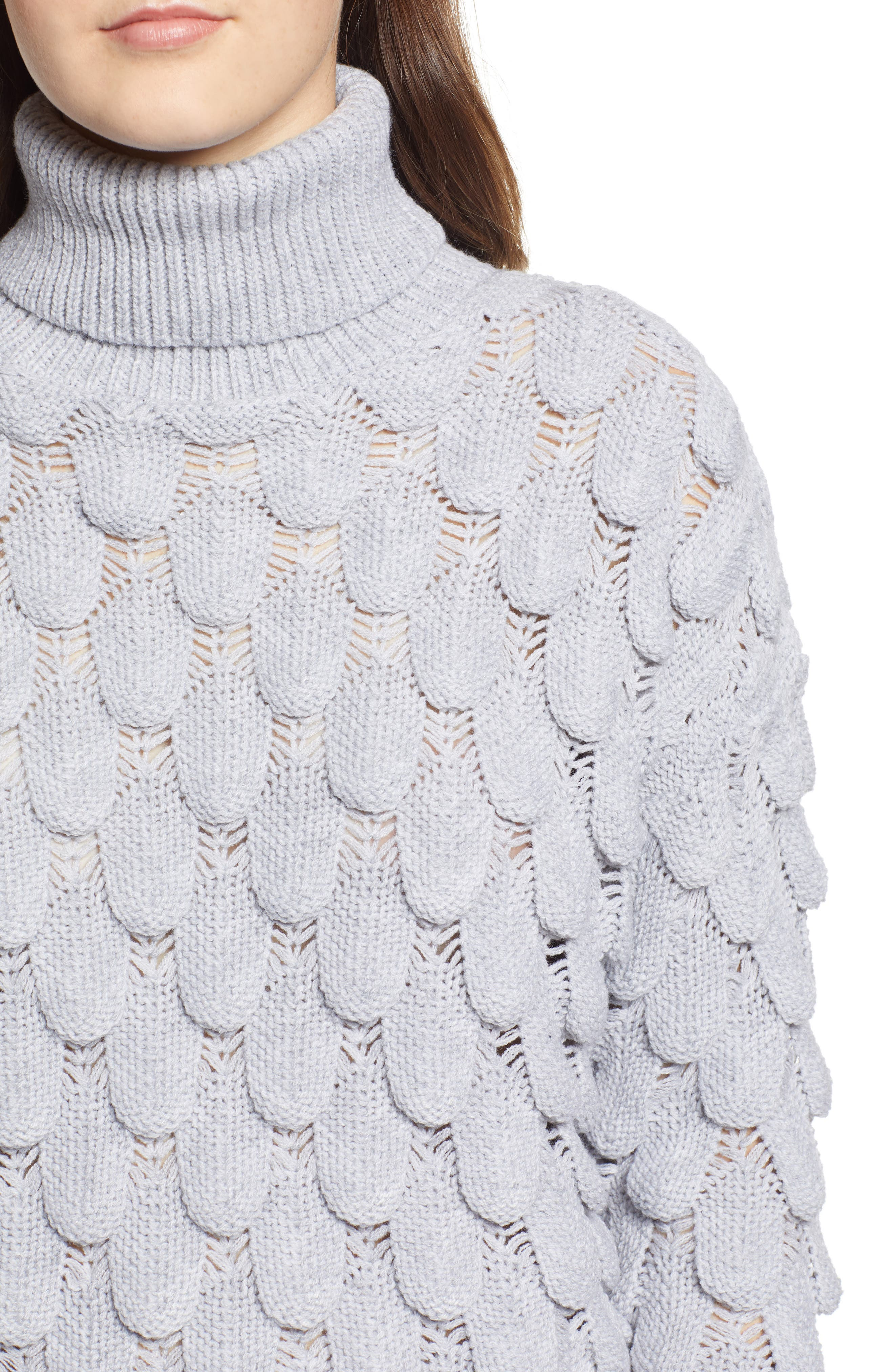 Scallop Stitch Sweater,                             Alternate thumbnail 4, color,                             038