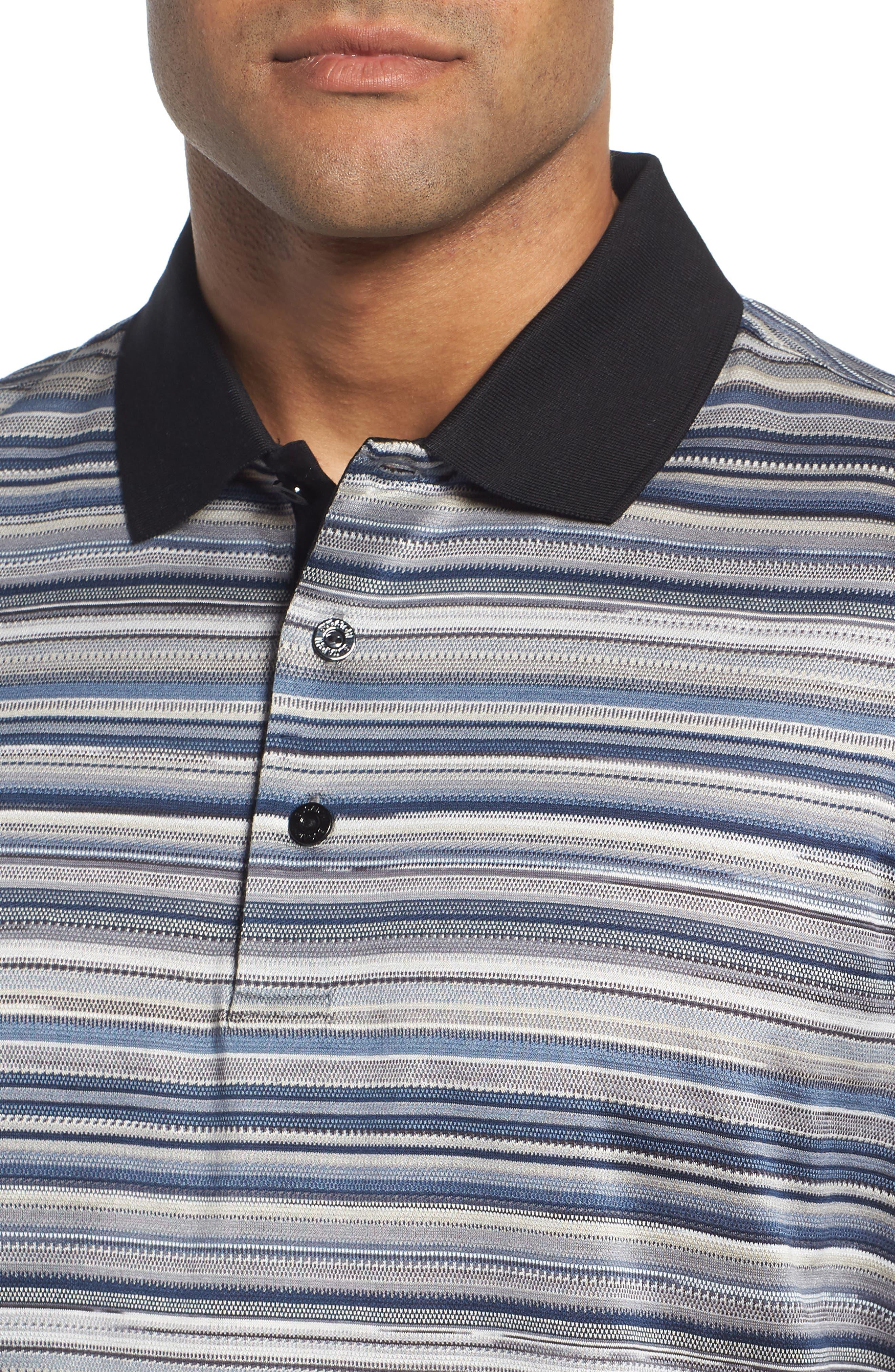 Stripe Mercerized Cotton Polo,                             Alternate thumbnail 4, color,