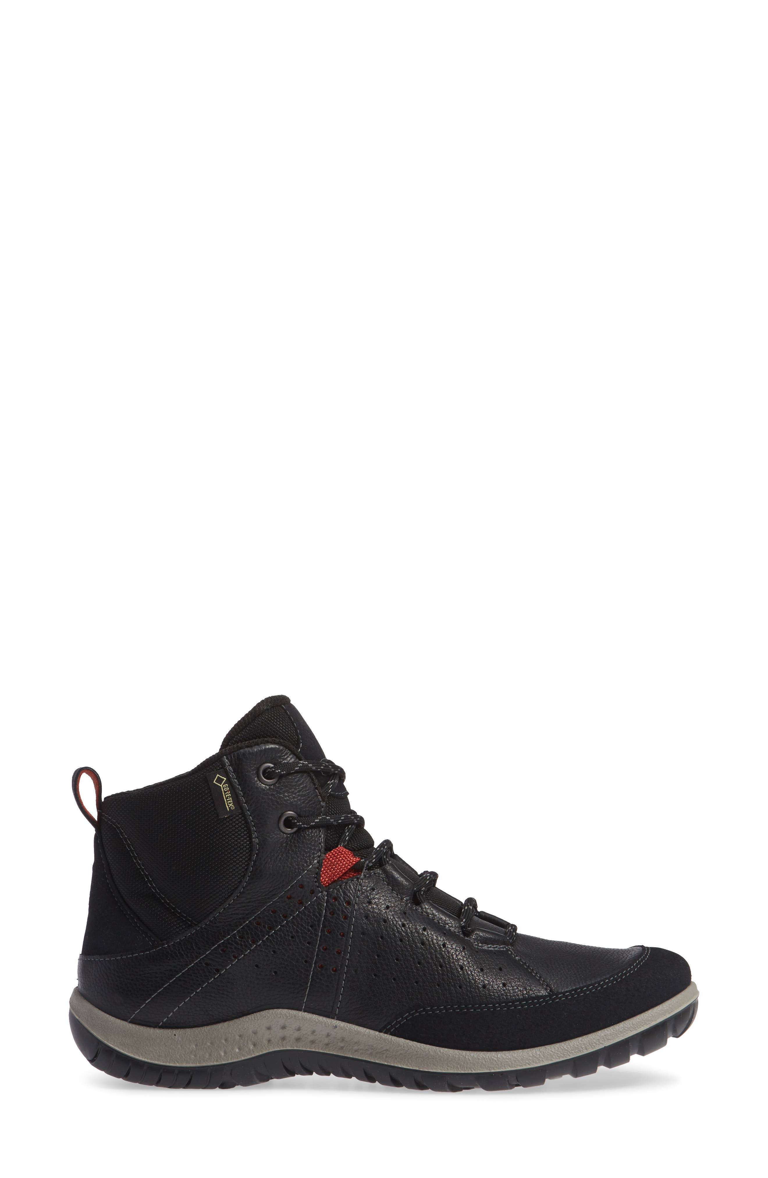 Aspina Gore-Tex<sup>®</sup> Bootie,                             Alternate thumbnail 3, color,                             BLACK LEATHER