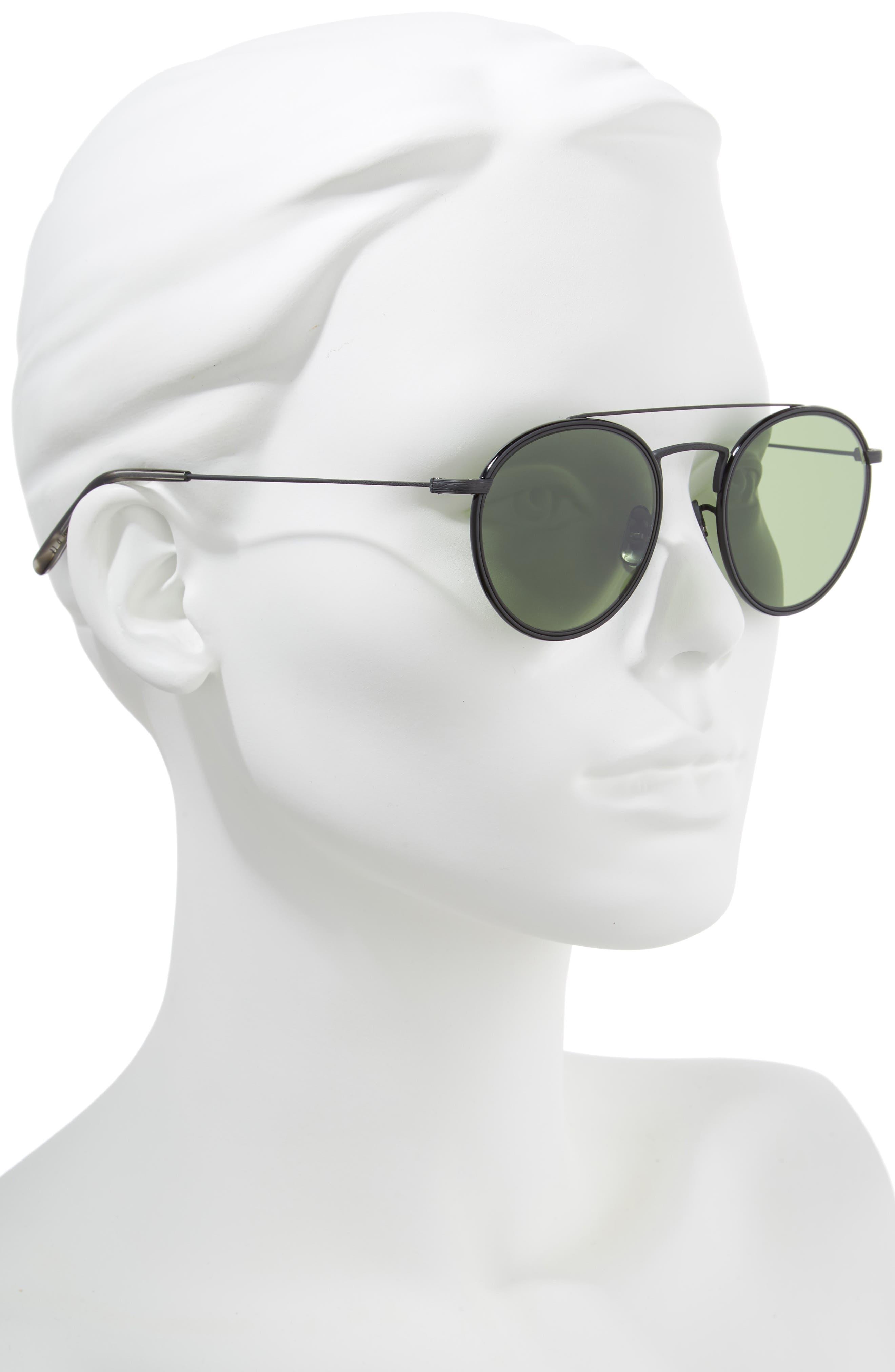 Ellice 50mm Round Sunglasses,                             Alternate thumbnail 2, color,                             001