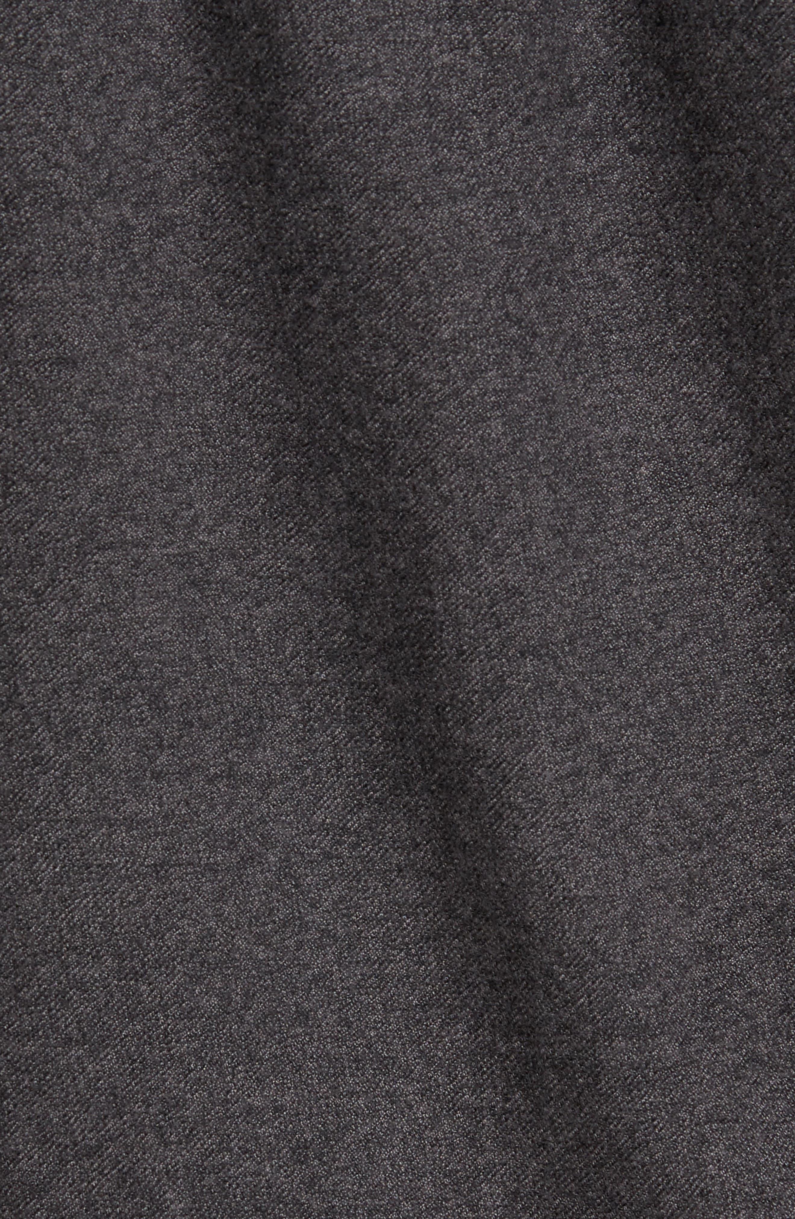 Never Mind Hooded Zip Shirt Jacket,                             Alternate thumbnail 5, color,                             001