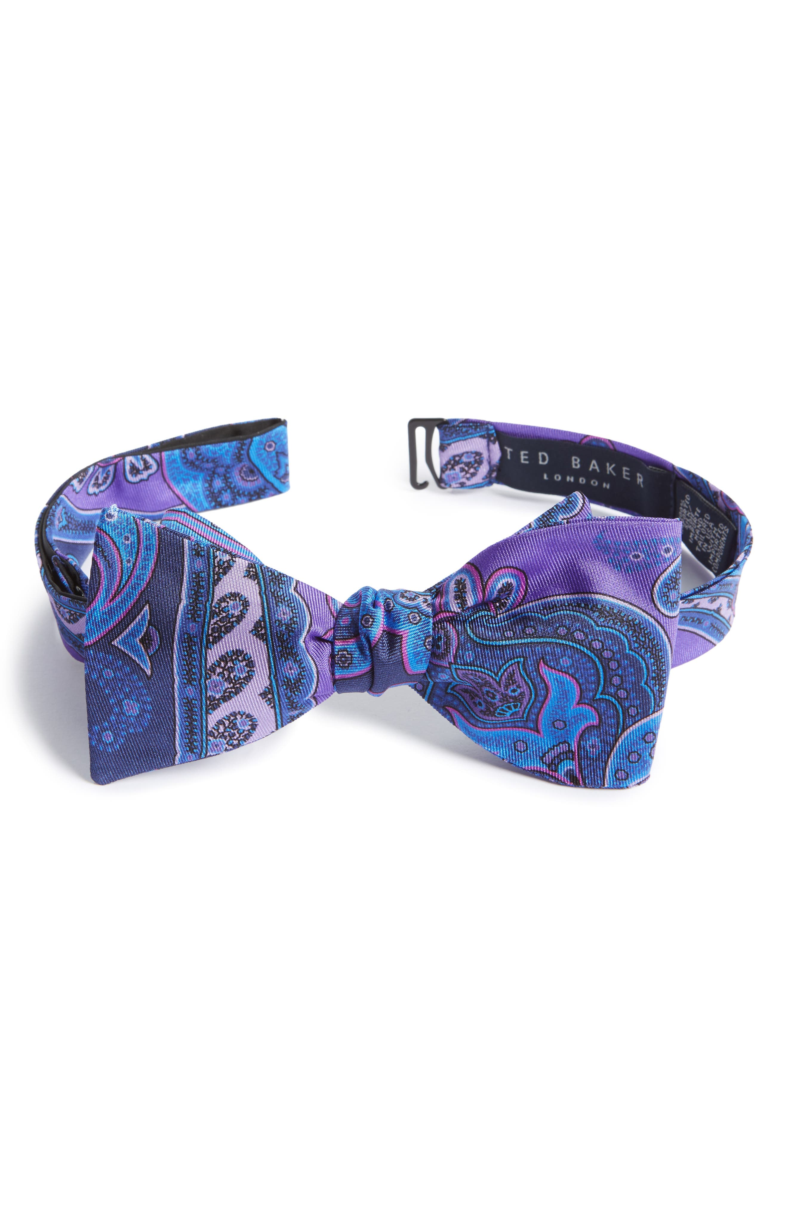 Paisley Silk Bow Tie,                         Main,                         color, 500