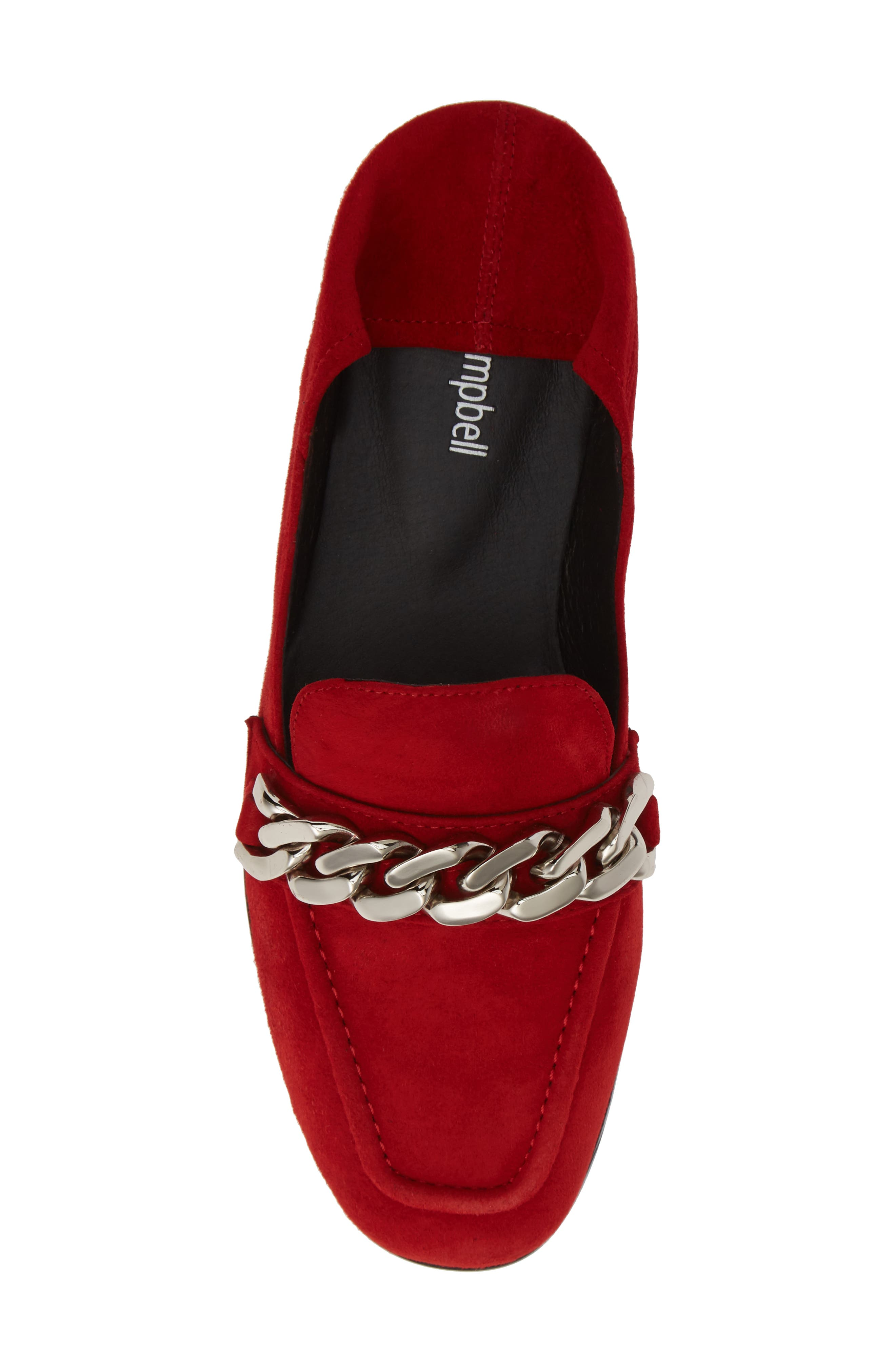 Jesse Convertible Heel Loafer,                             Alternate thumbnail 6, color,                             RED SUEDE SILVER