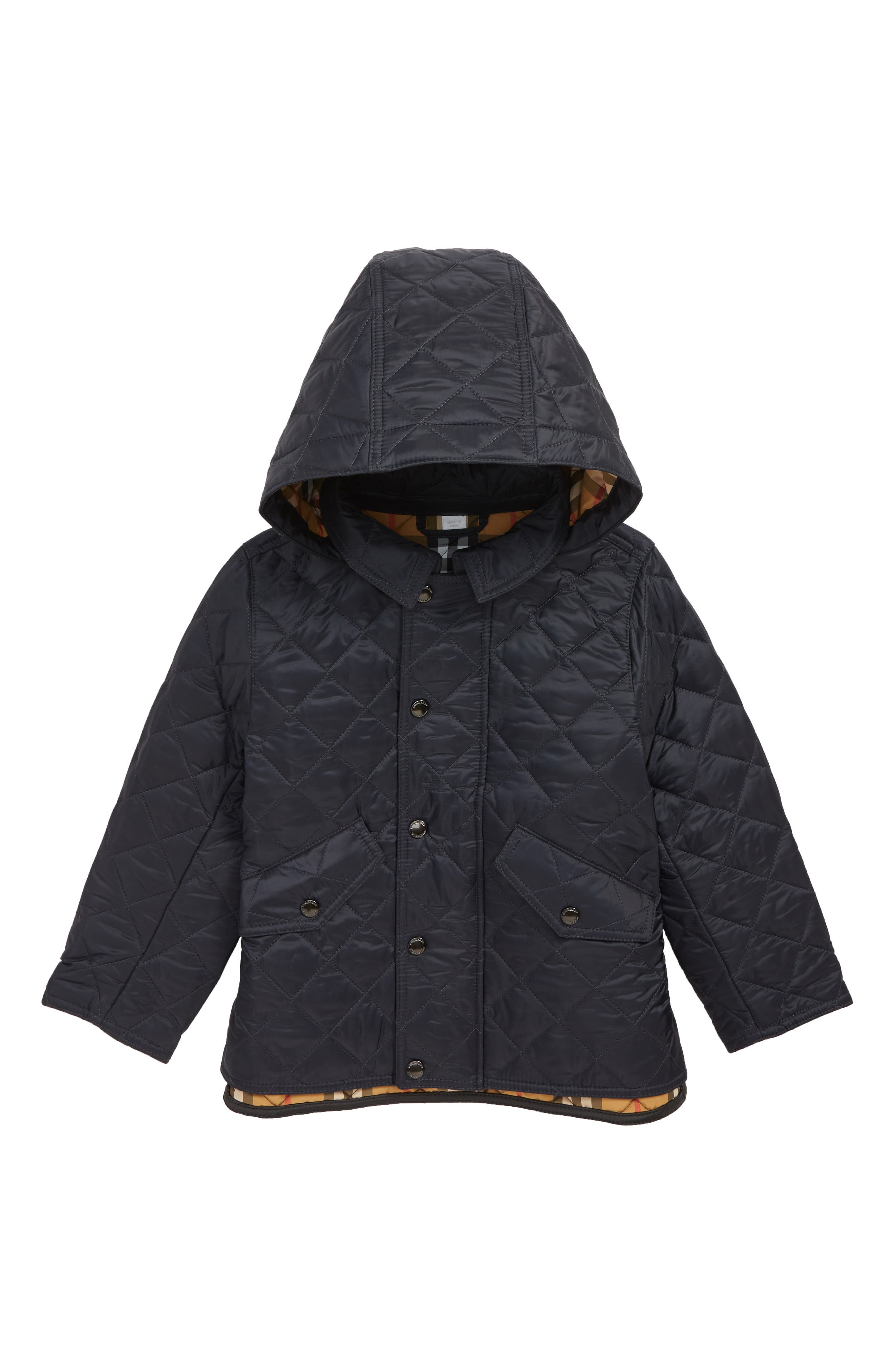 Ilana Quilted Water Repellent Jacket,                             Main thumbnail 1, color,                             BRIGHT NAVY